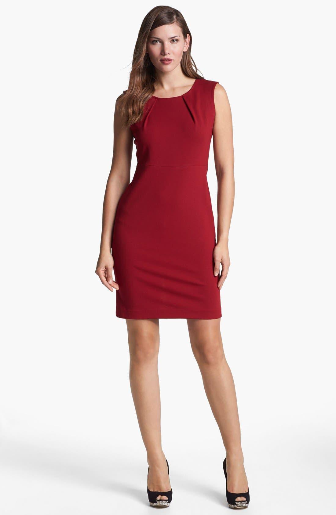 Main Image - Lafayette 148 New York Sleeveless Punto Milano Dress