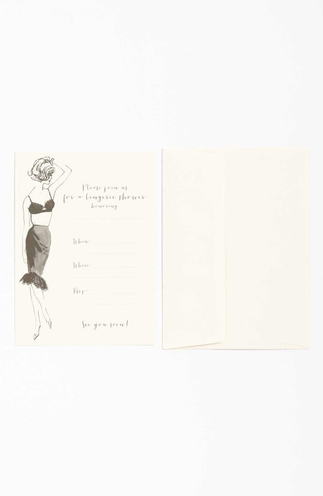 Alternate Image 1 Selected - Kitchen Papers by Cake Lingerie Shower Invitations (Set of 10)