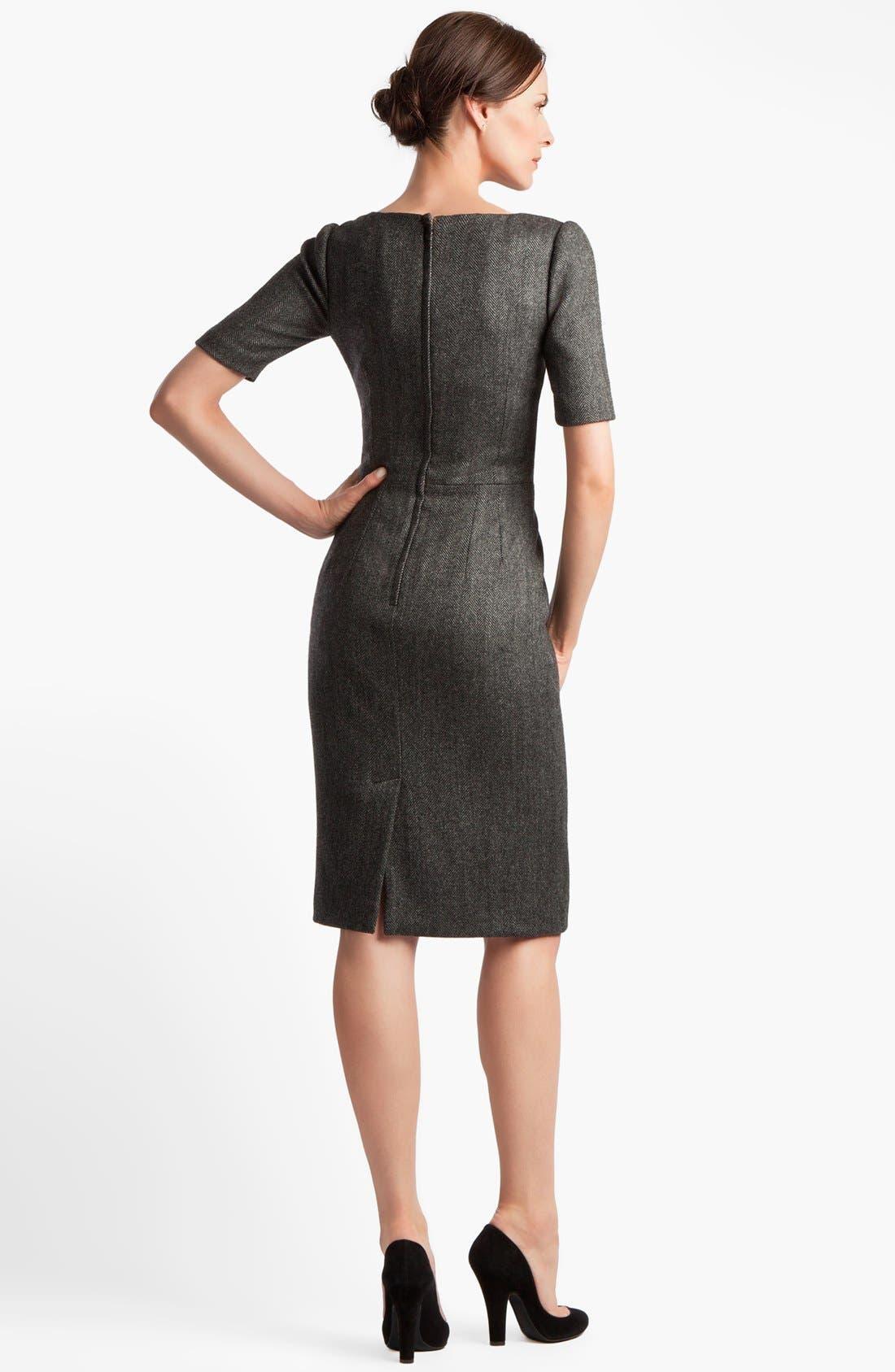 Alternate Image 2  - Dolce&Gabbana Stretch Herringbone Dress