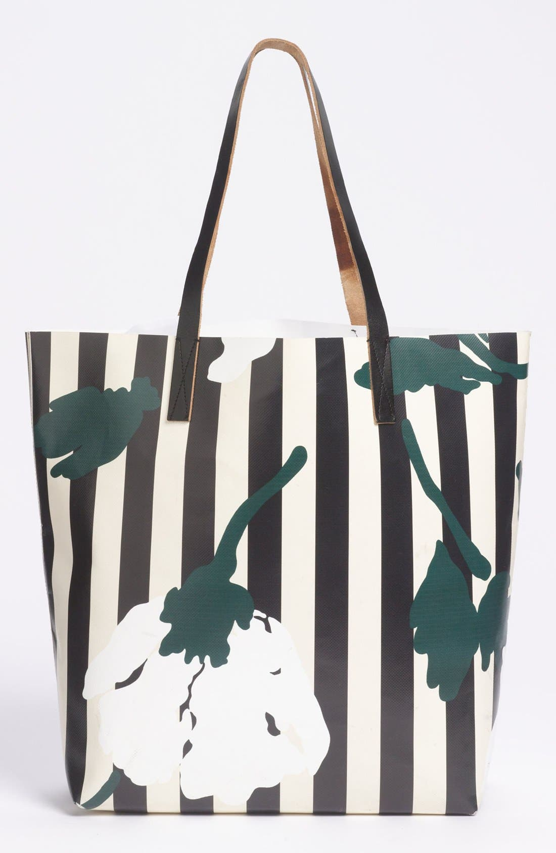 Main Image - Marni Floral Stripe Tote
