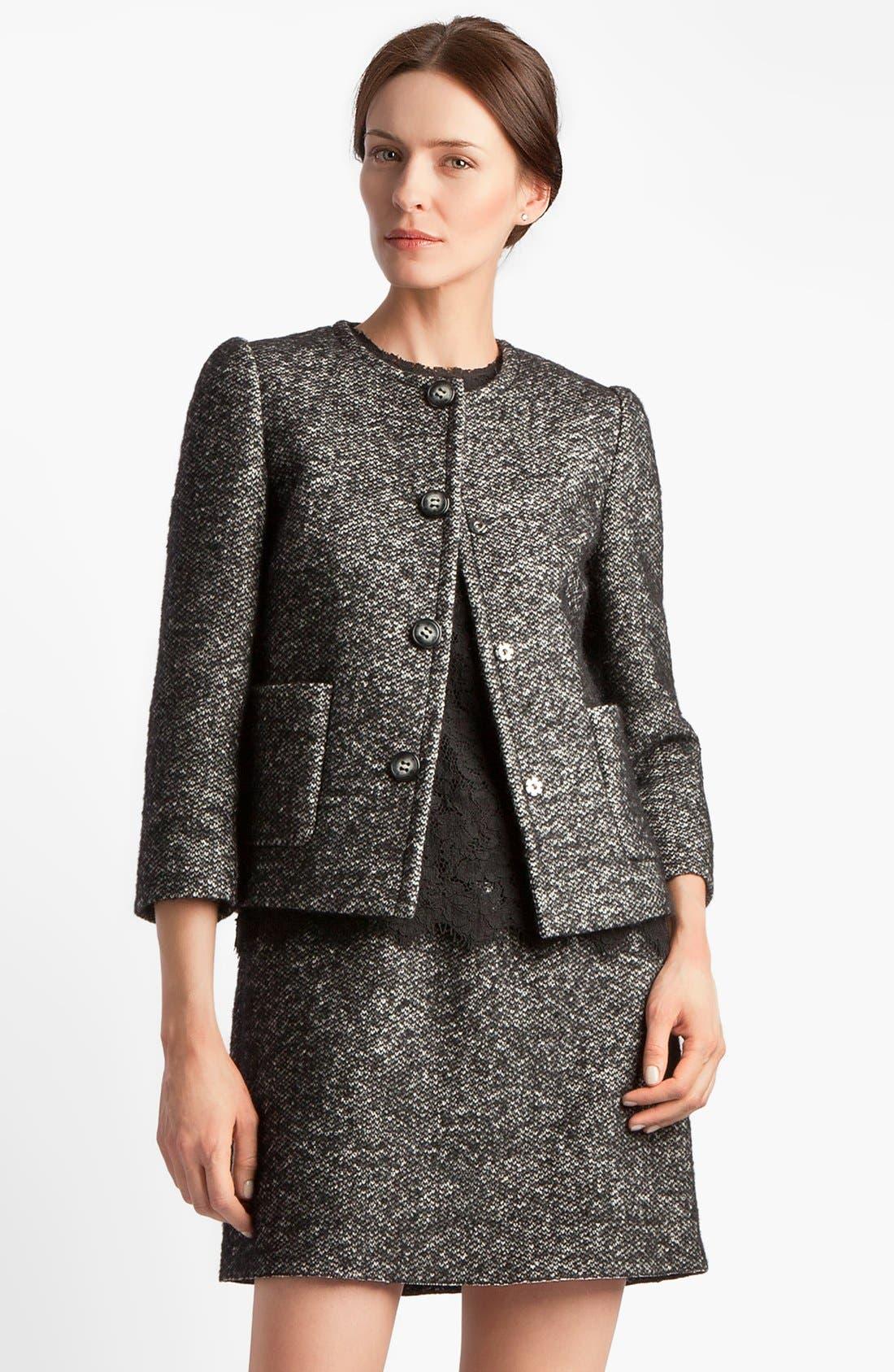 Main Image - Dolce&Gabbana Collarless Tweed Jacket