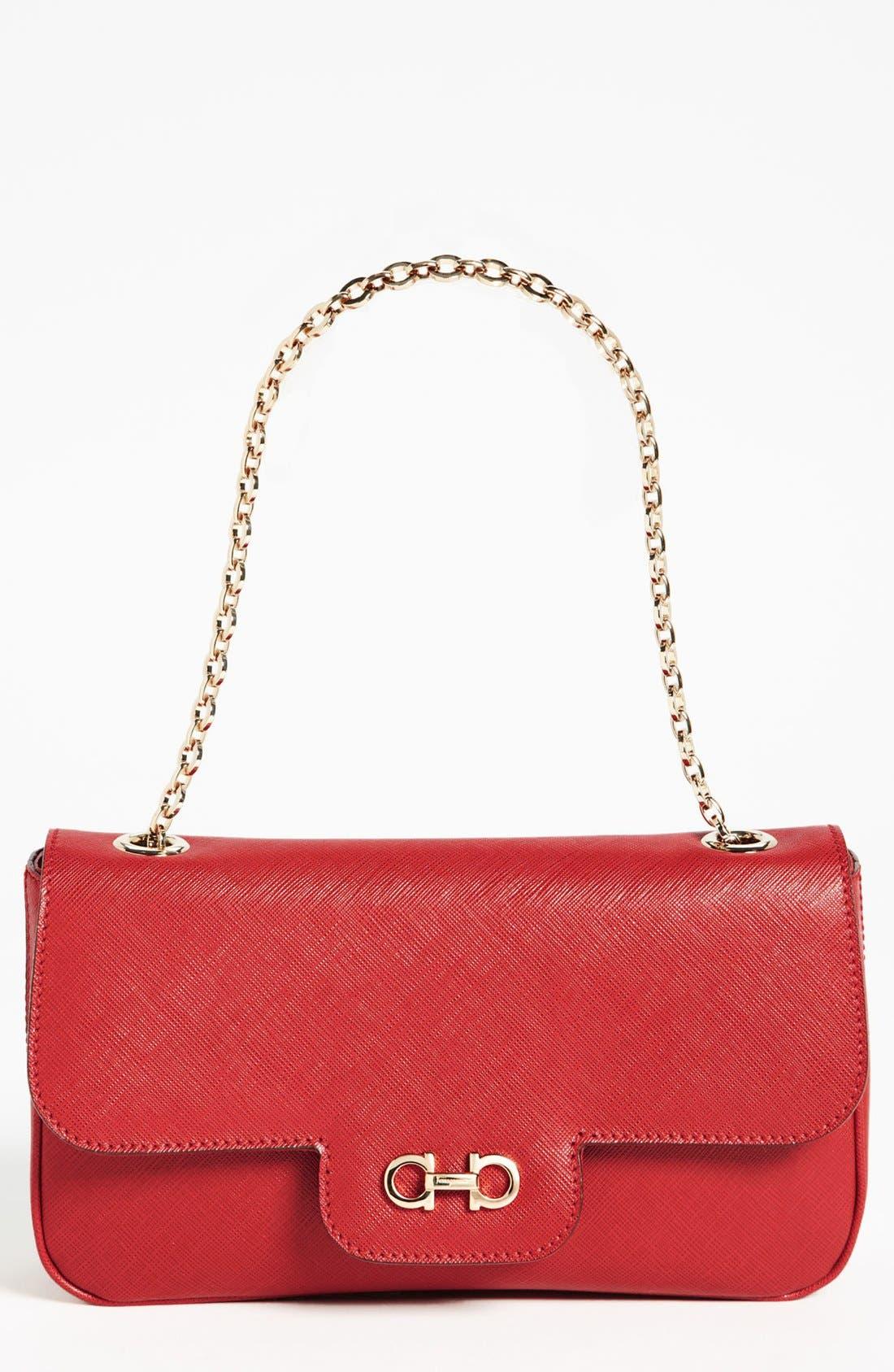 Main Image - Salvatore Ferragamo 'Luciana' Leather Shoulder Bag