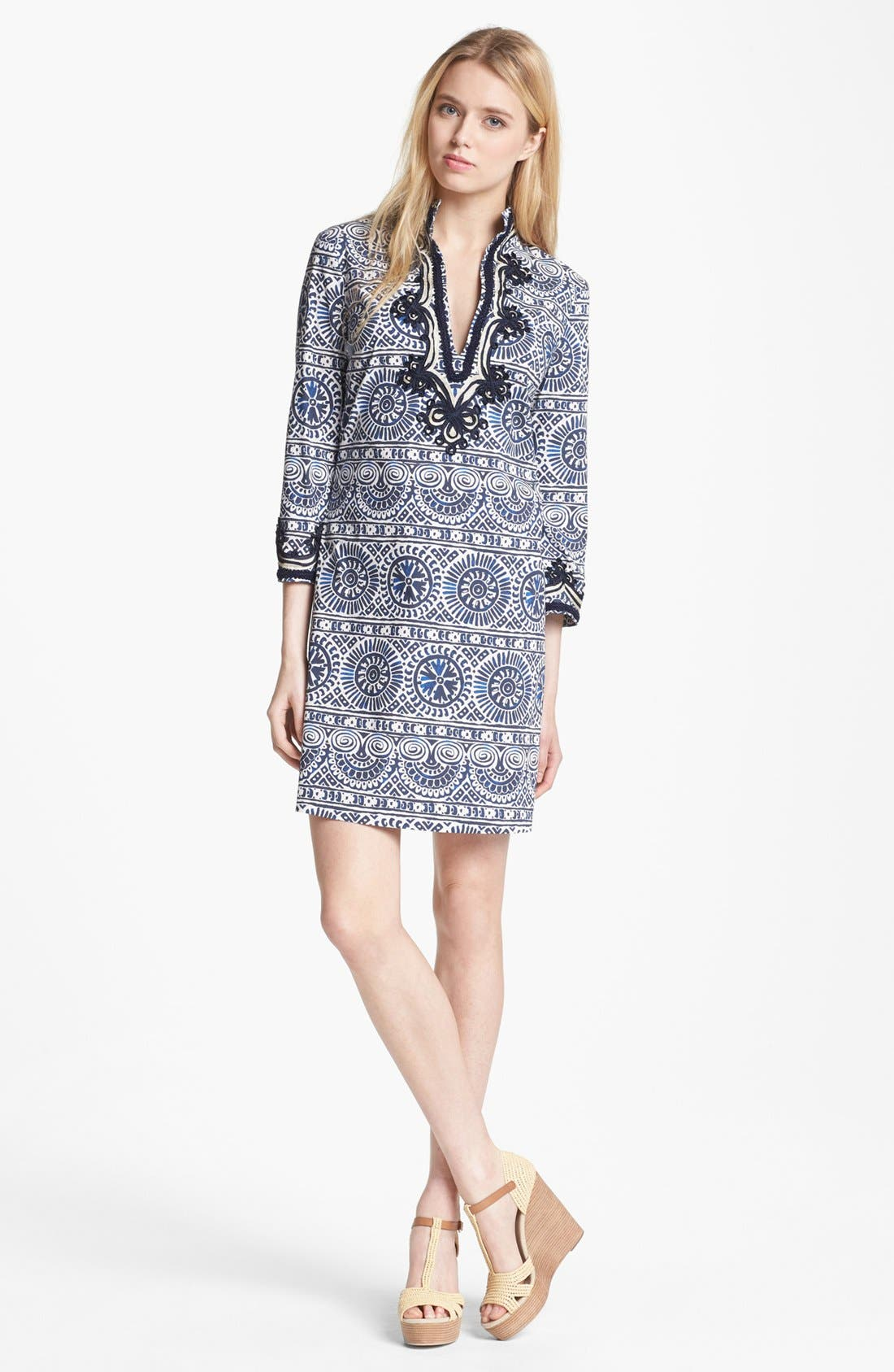 Main Image - Tory Burch Poplin Shift Minidress