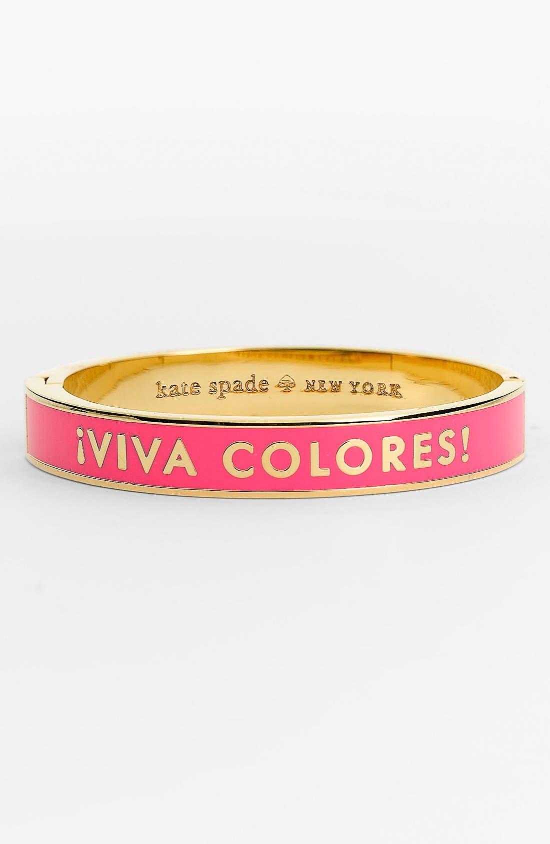 Main Image - kate spade new york 'idiom - true colors' hinged bangle