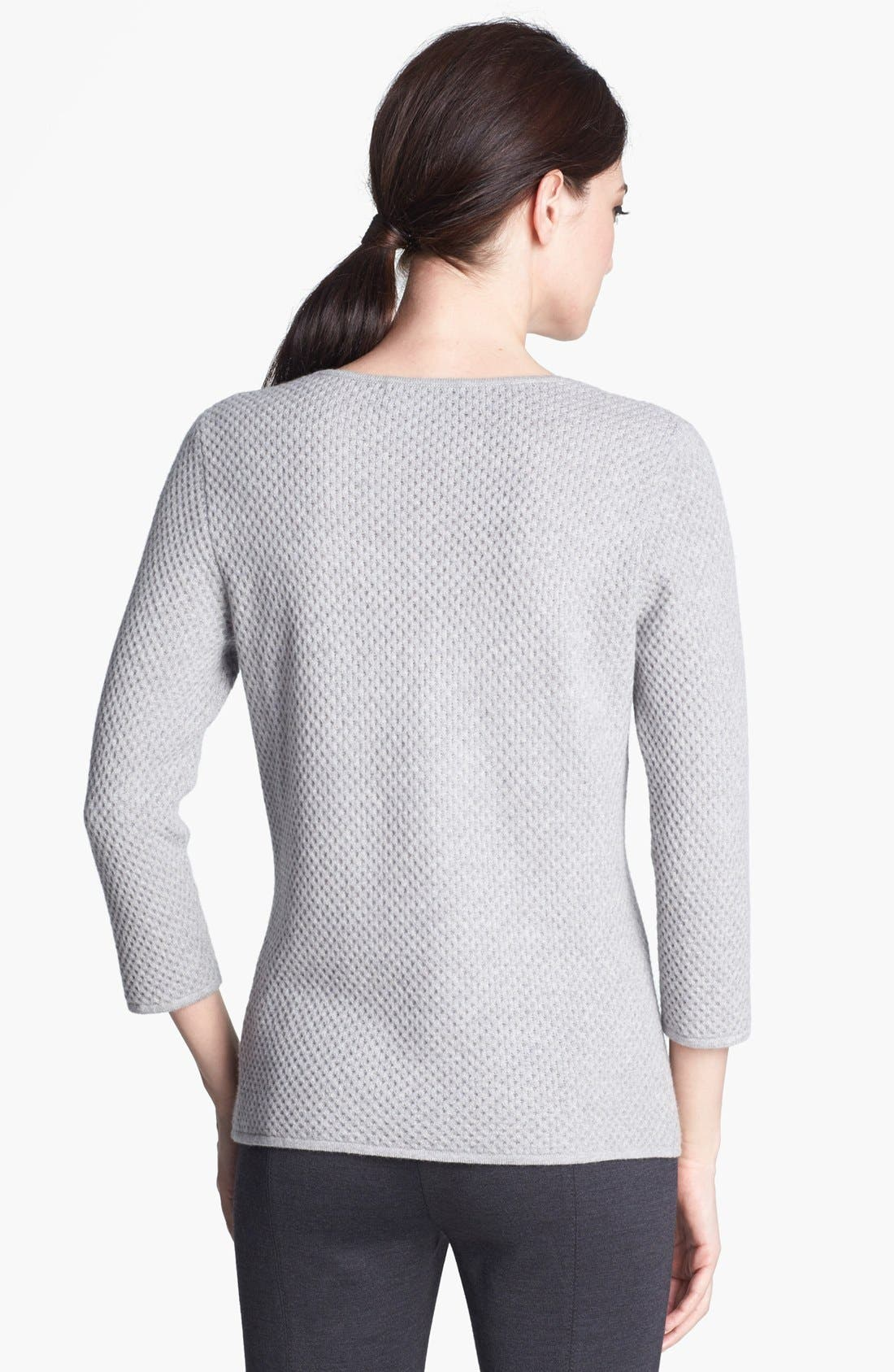 Alternate Image 3  - St. John Collection Scoop Neck Cashmere Knit Sweater