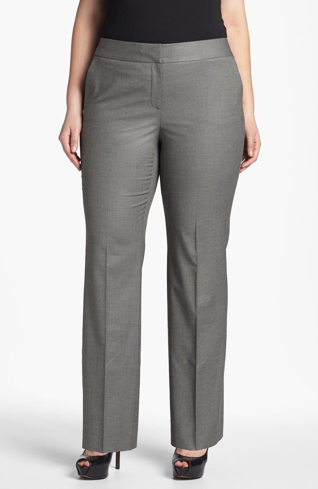 Alternate Image 1 Selected - Sejour 'Marcy' Suit Trousers (Plus Size)