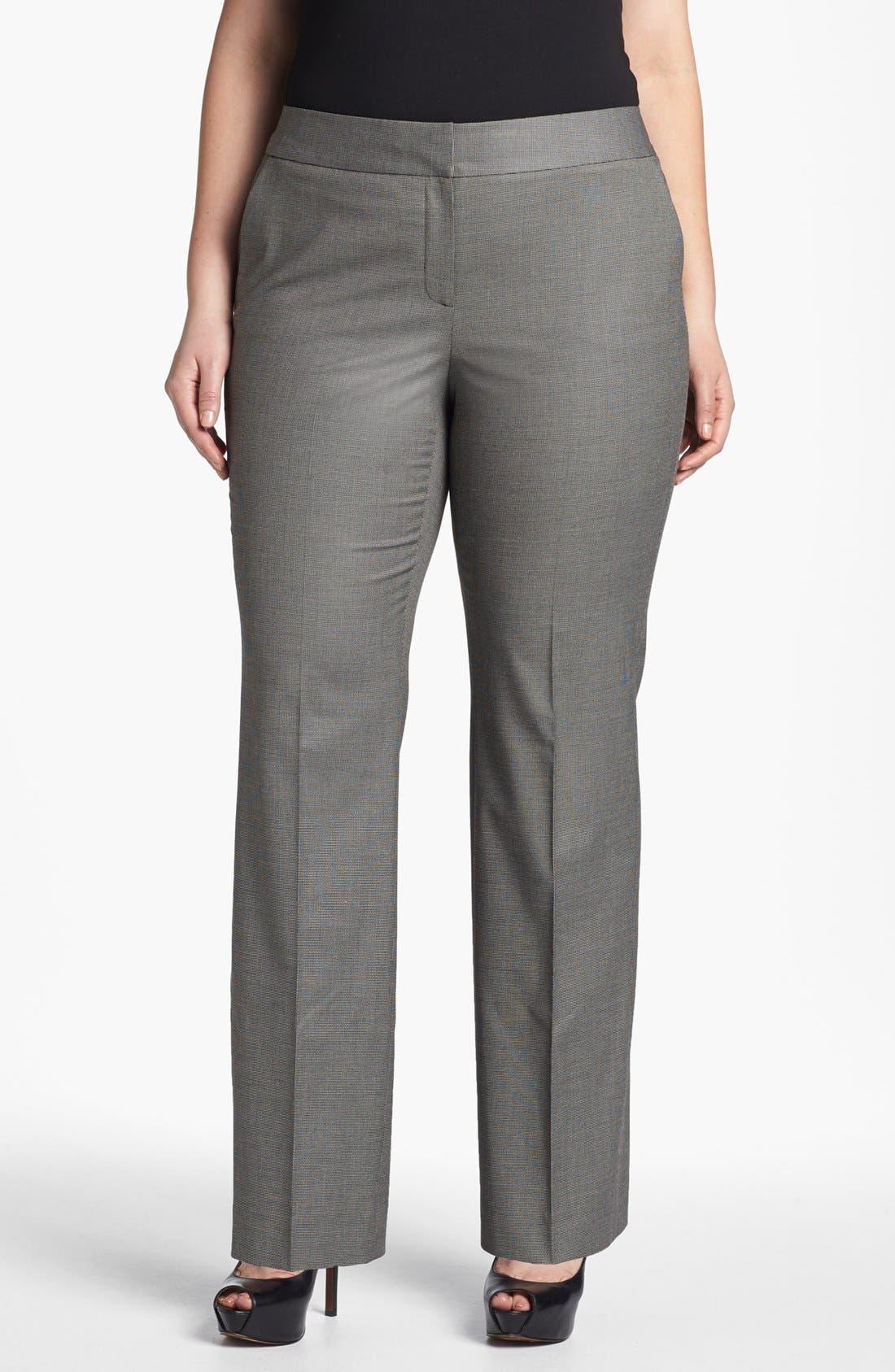 Main Image - Sejour 'Marcy' Suit Trousers (Plus Size)