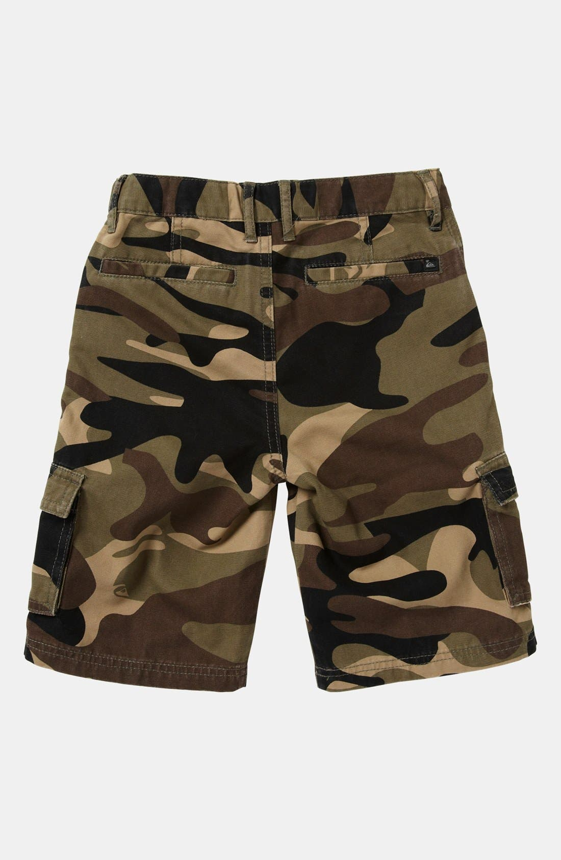 Alternate Image 2  - Quiksilver 'Sue Fley' Camo Cargo Shorts (Toddler)