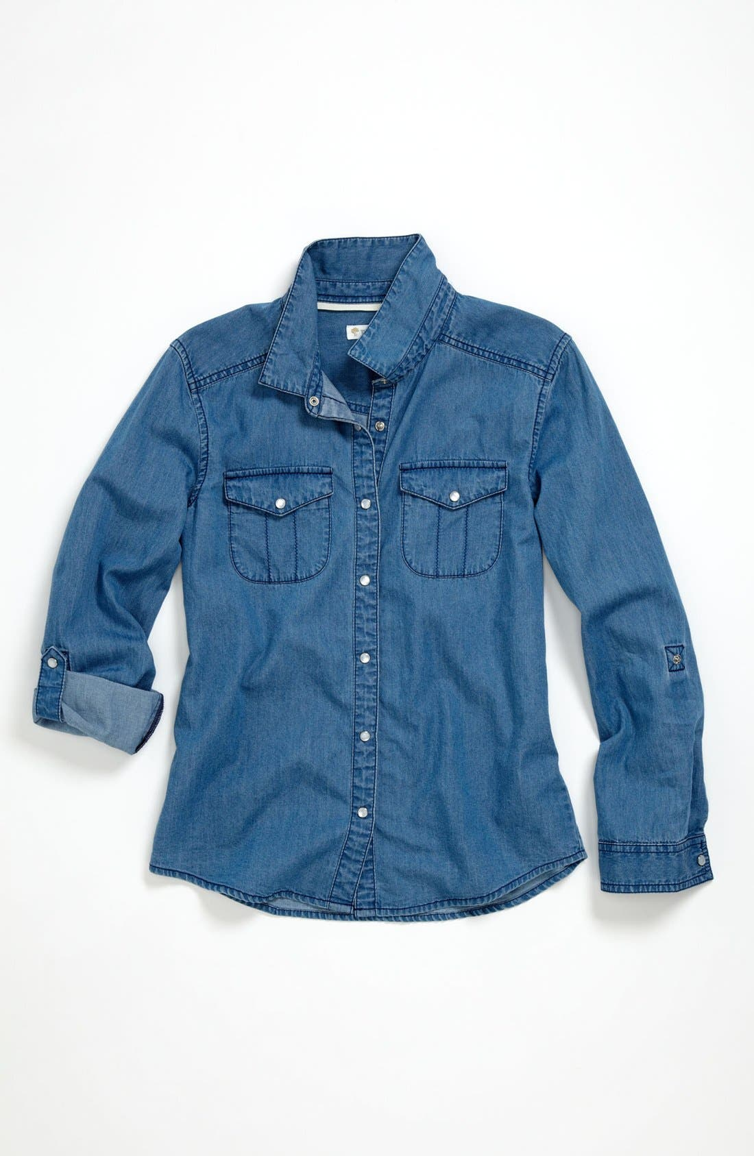 Alternate Image 1 Selected - Tucker + Tate 'Angie' Chambray Shirt (Big Girls)