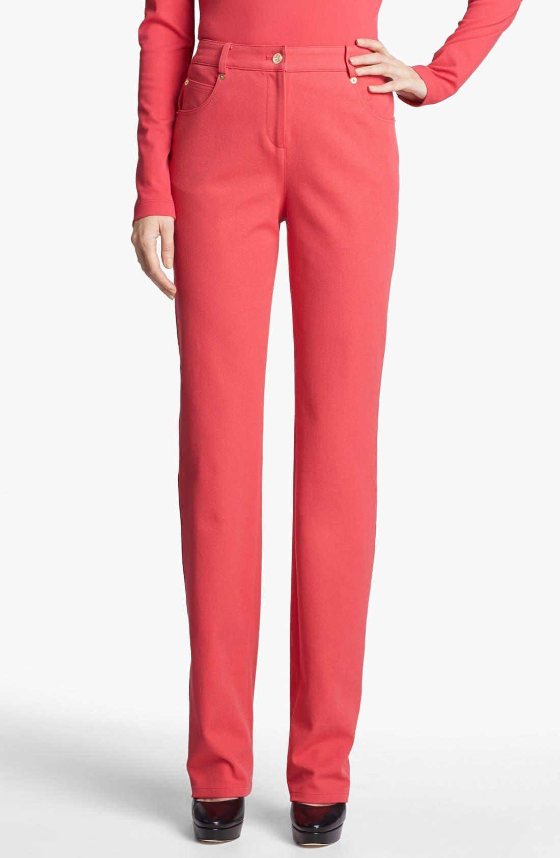 Alternate Image 1 Selected - St. John Yellow Label 'Marie' Straight Leg Twill Pants