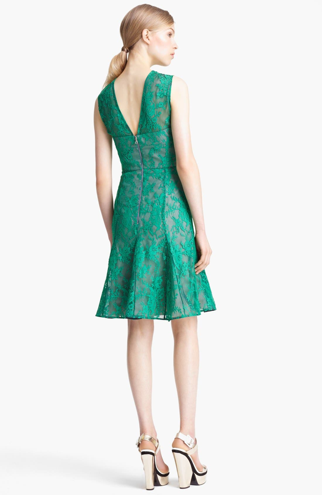 Alternate Image 2  - Erdem Lace Overlay Full Skirt Dress
