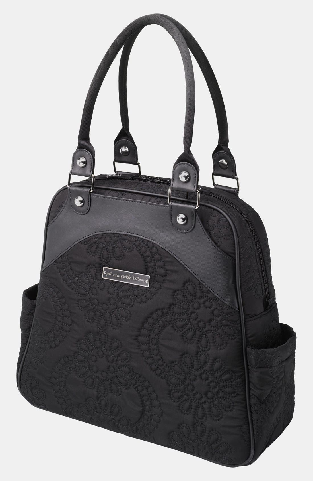 Alternate Image 1 Selected - Petunia Pickle Bottom Embossed Diaper Bag