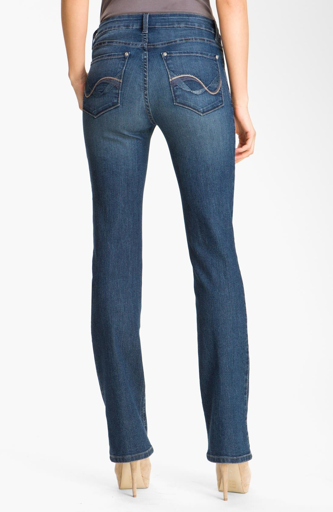 Alternate Image 2  - NYDJ 'Barbara' Embellished Bootcut Stretch Jeans (Petite)