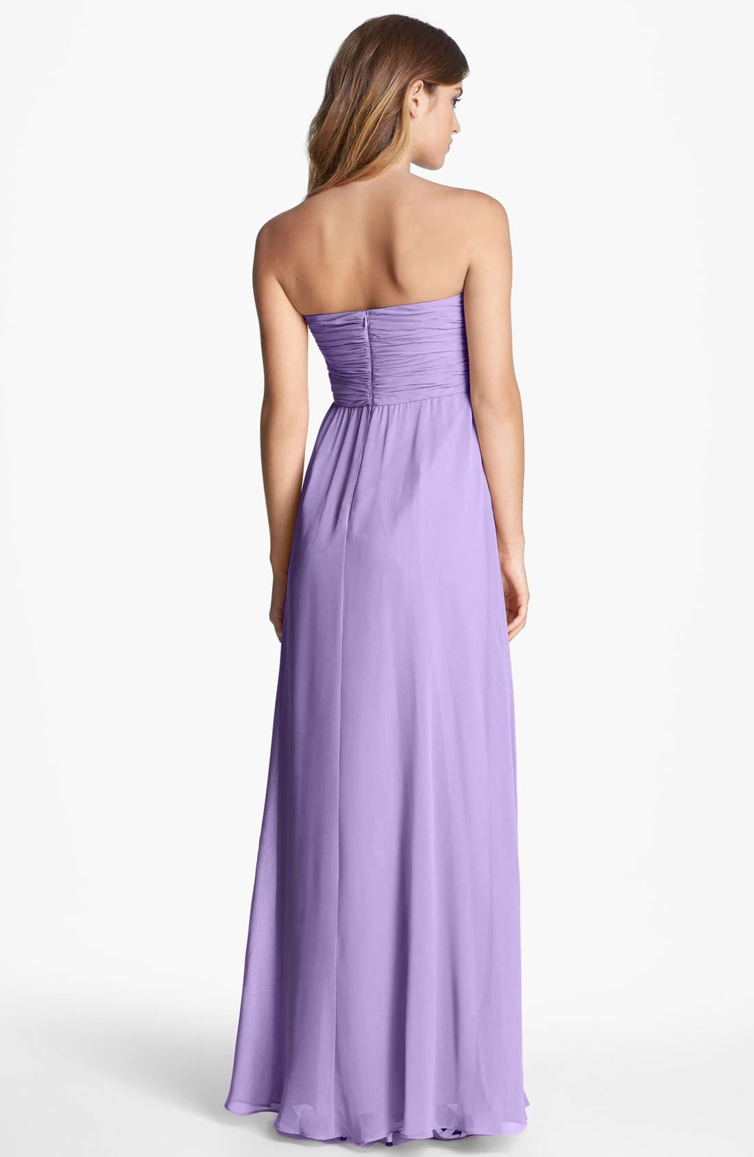 Alternate Image 2  - Donna Morgan 'Lisa' Strapless Front Draped Gown (Online Only)