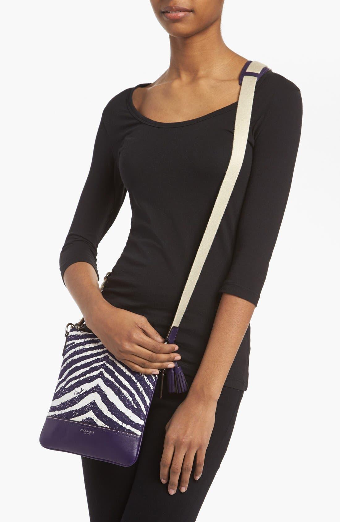 Alternate Image 2  - COACH 'Legacy - Swingpack' Zebra Print Crossbody Bag, Small