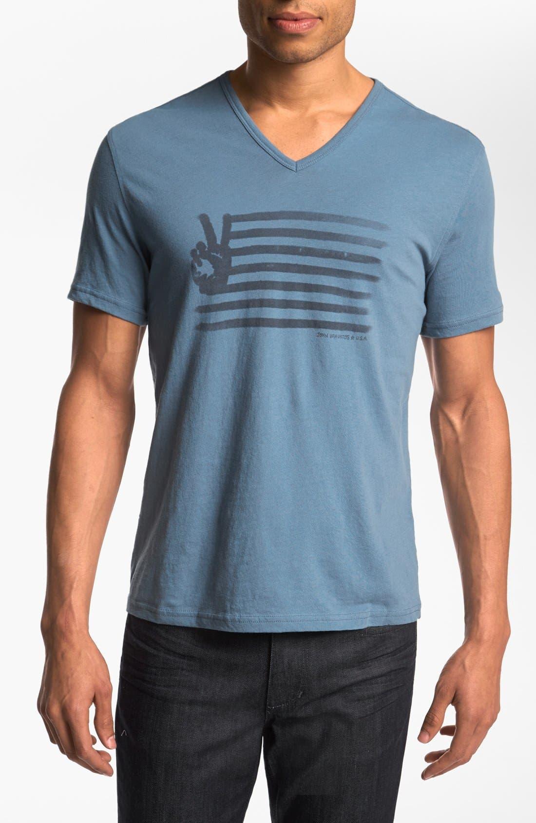 Main Image - John Varvatos Star USA 'Painted Peace Sign' T-Shirt