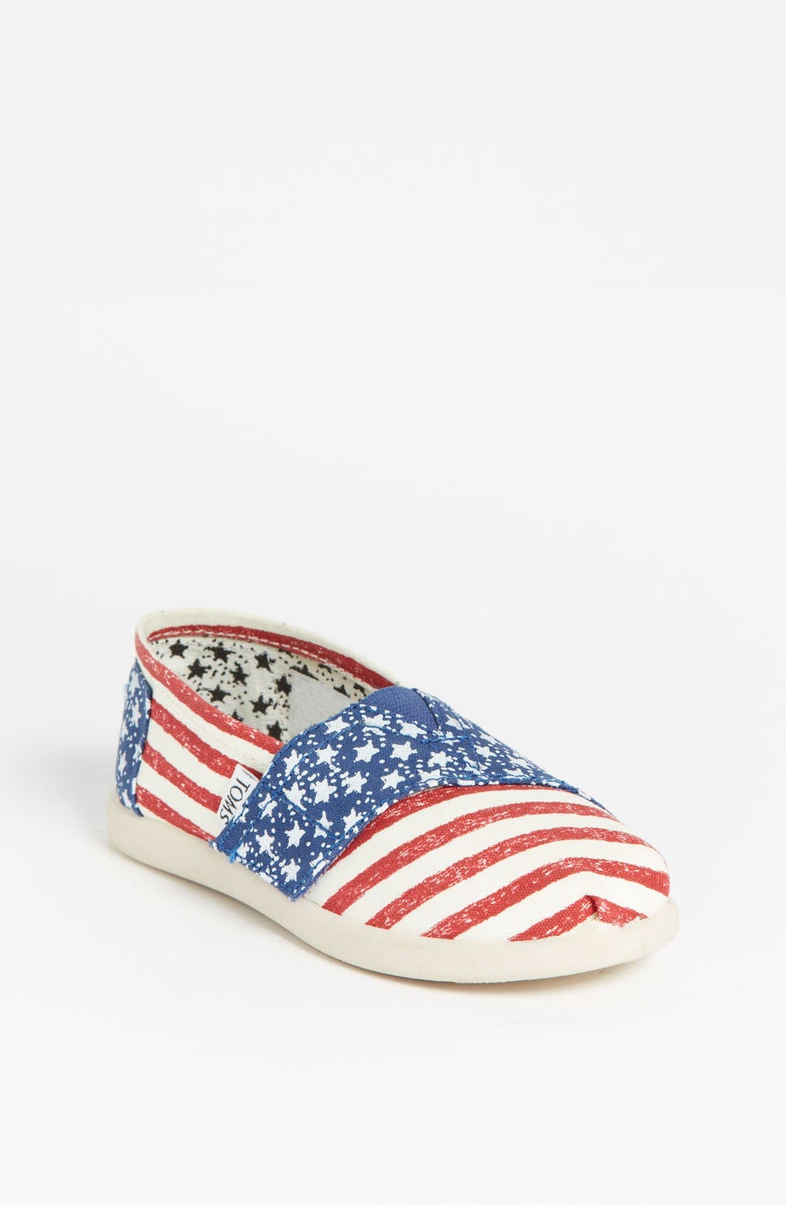 Main Image - TOMS 'Classic Tiny - Stars & Stripes' Slip-On (Baby, Walker & Toddler)