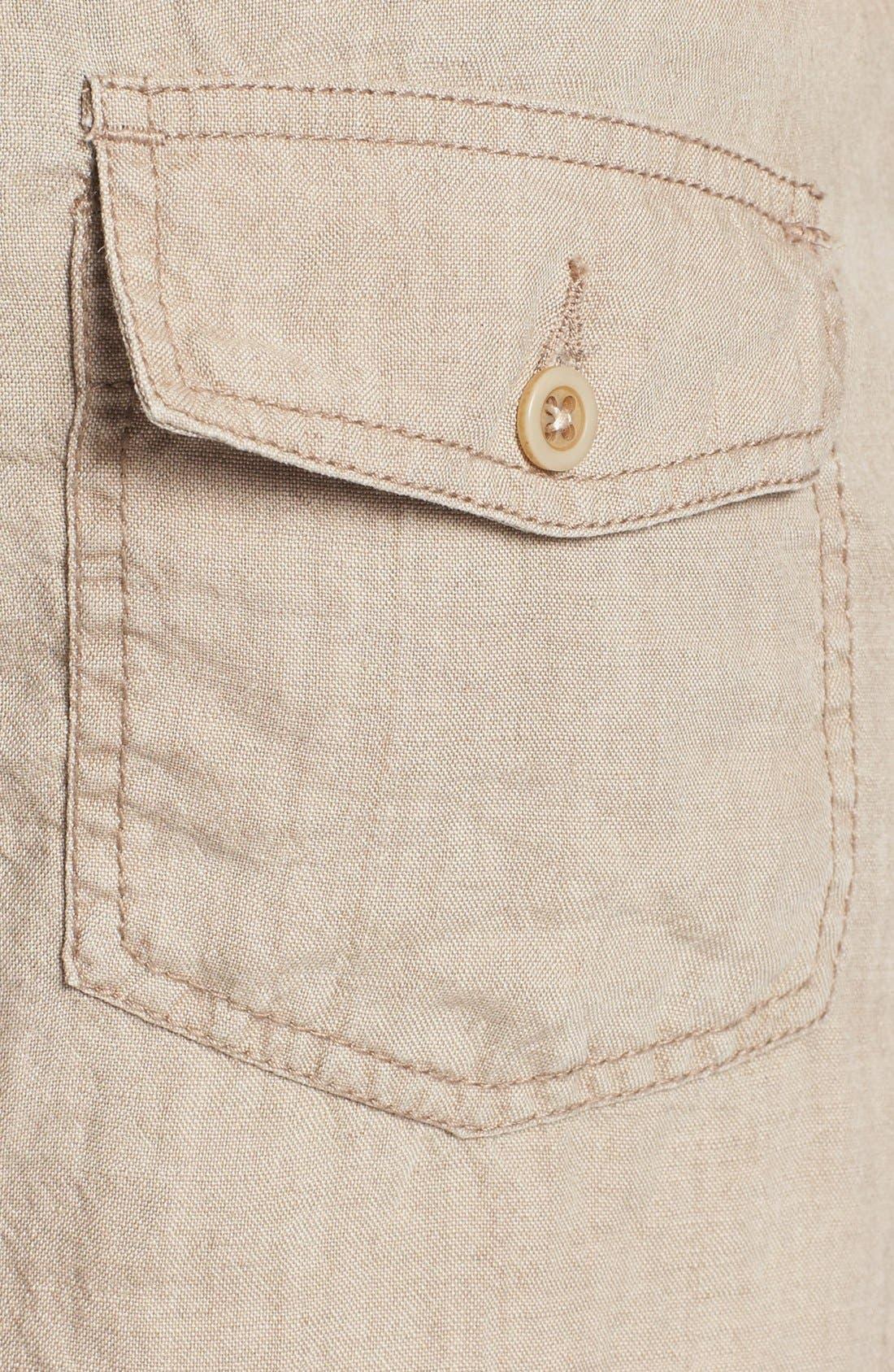 Alternate Image 3  - Shirt by Shirt 'Guam' Linen Shorts