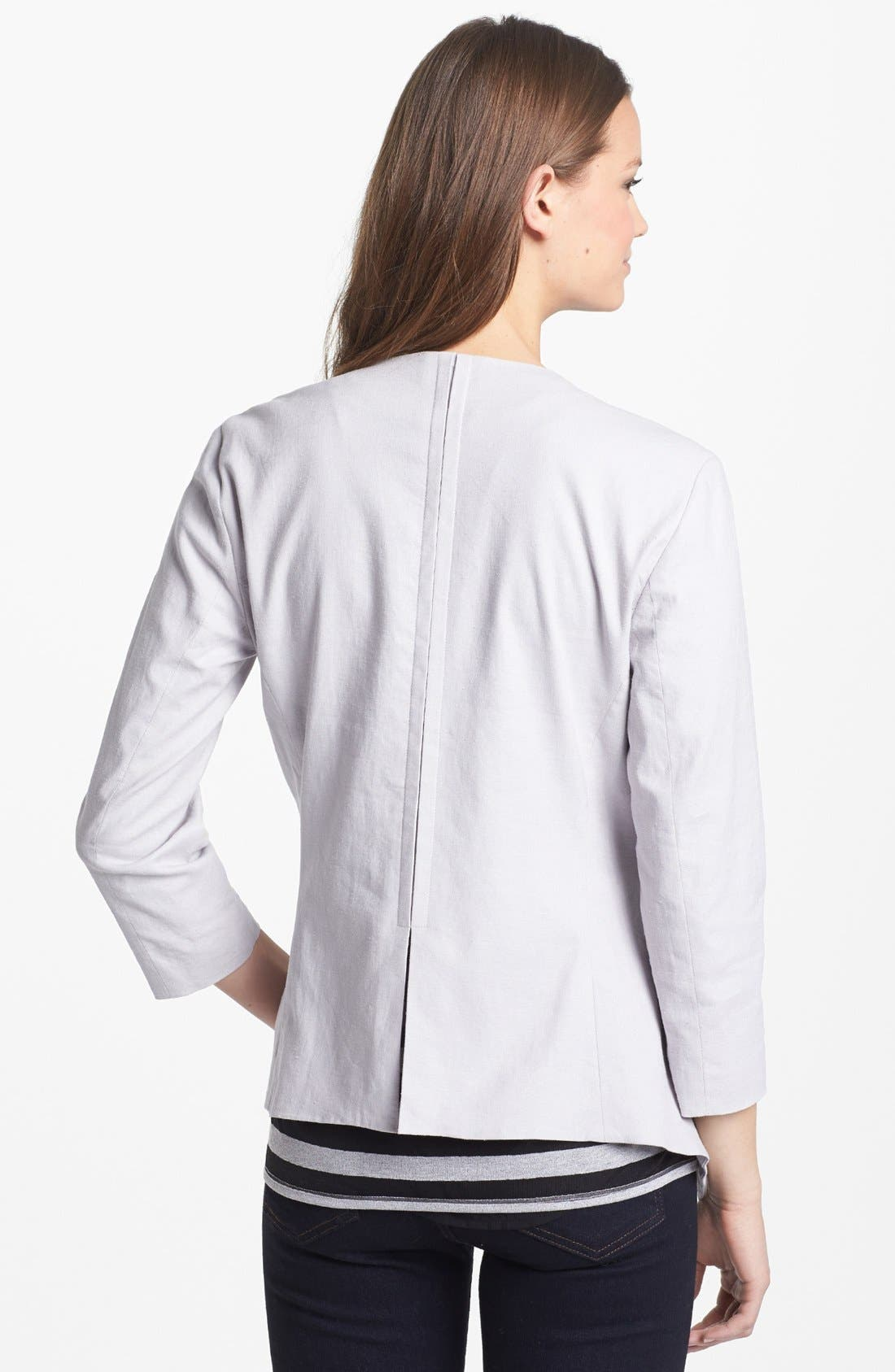 Alternate Image 2  - Kenneth Cole New York 'Kenzie' Linen Jacket