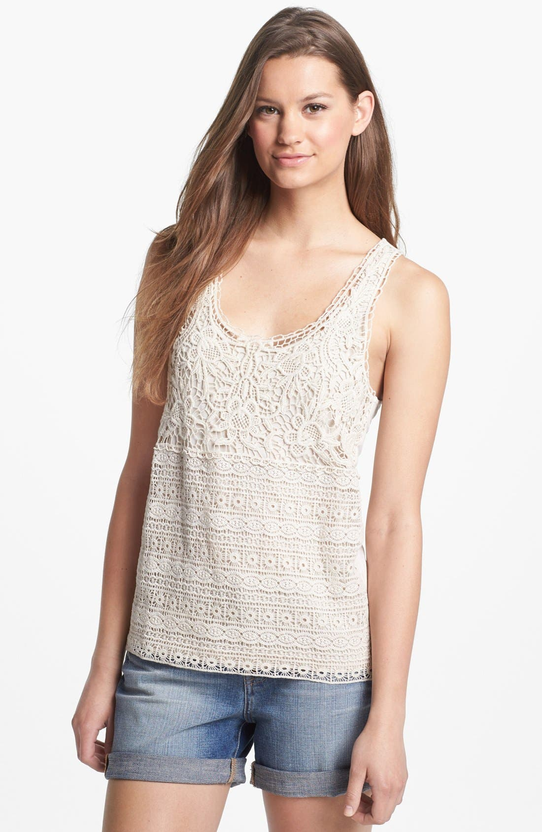 Alternate Image 1 Selected - Caslon® Lace Front Tank