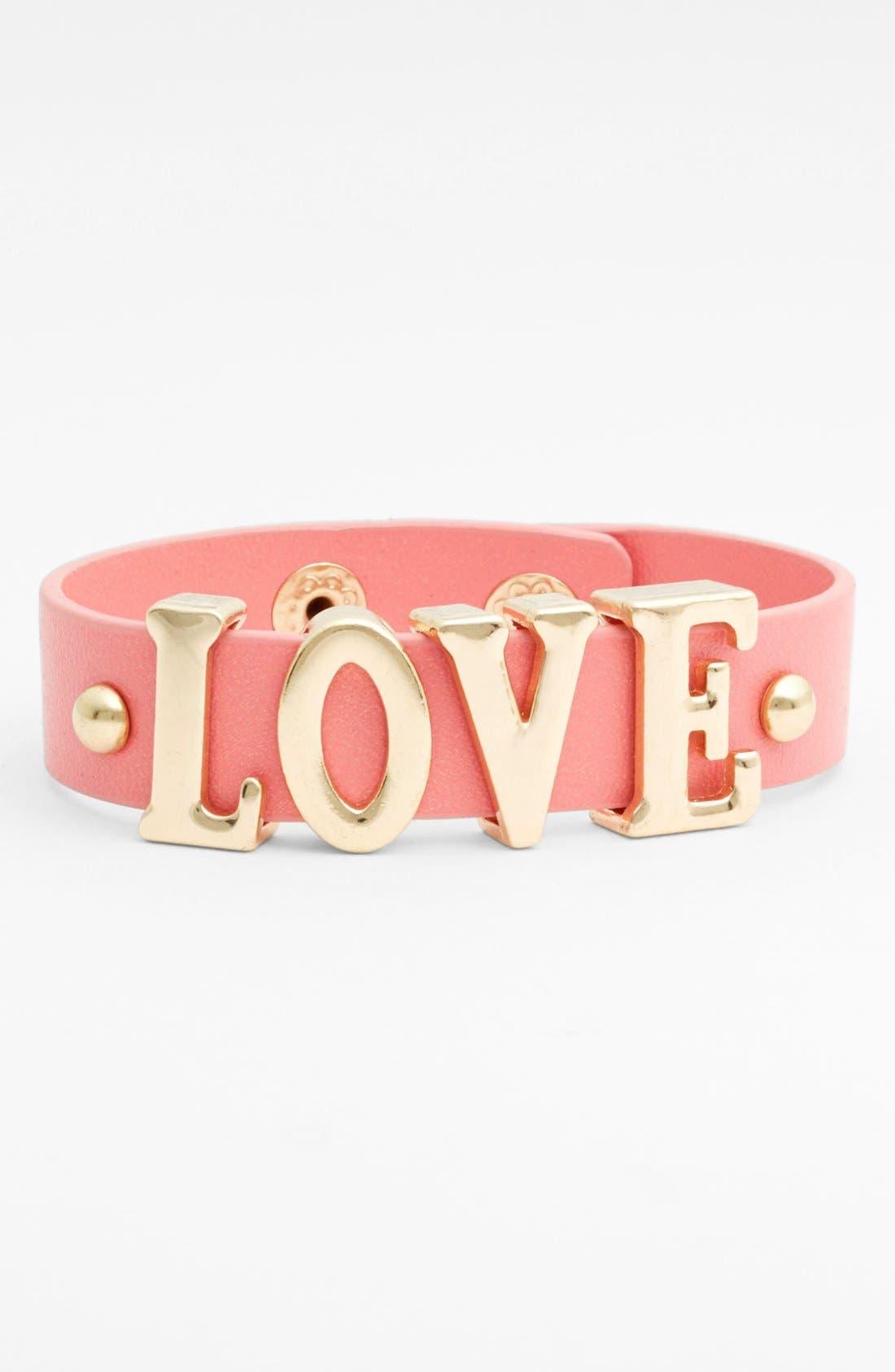 Alternate Image 1 Selected - Carole 'Love' Wrap Bracelet (Juniors) (Online Only)