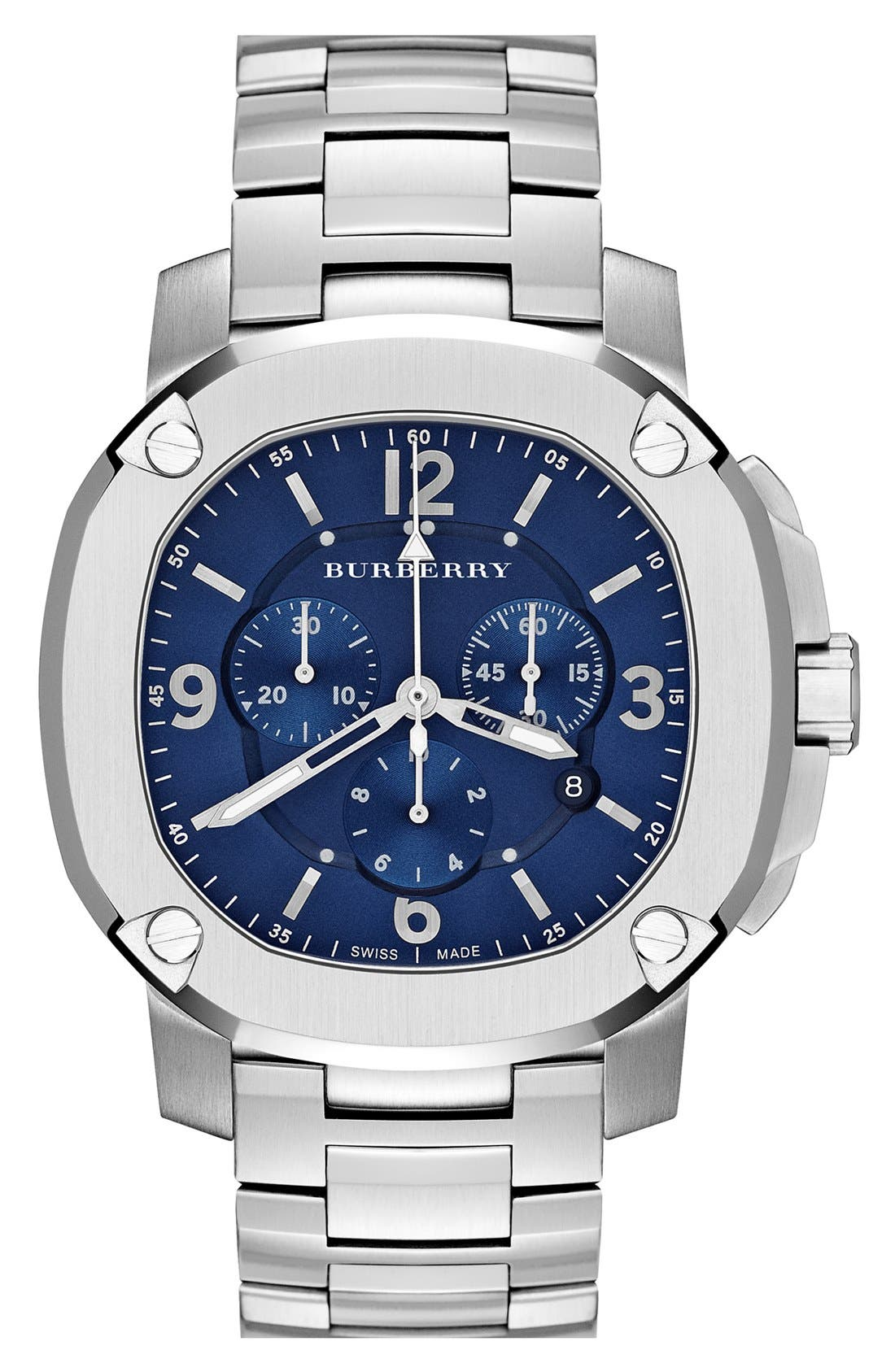 Main Image - Burberry The Britain Chronograph Bracelet Watch, 47mm