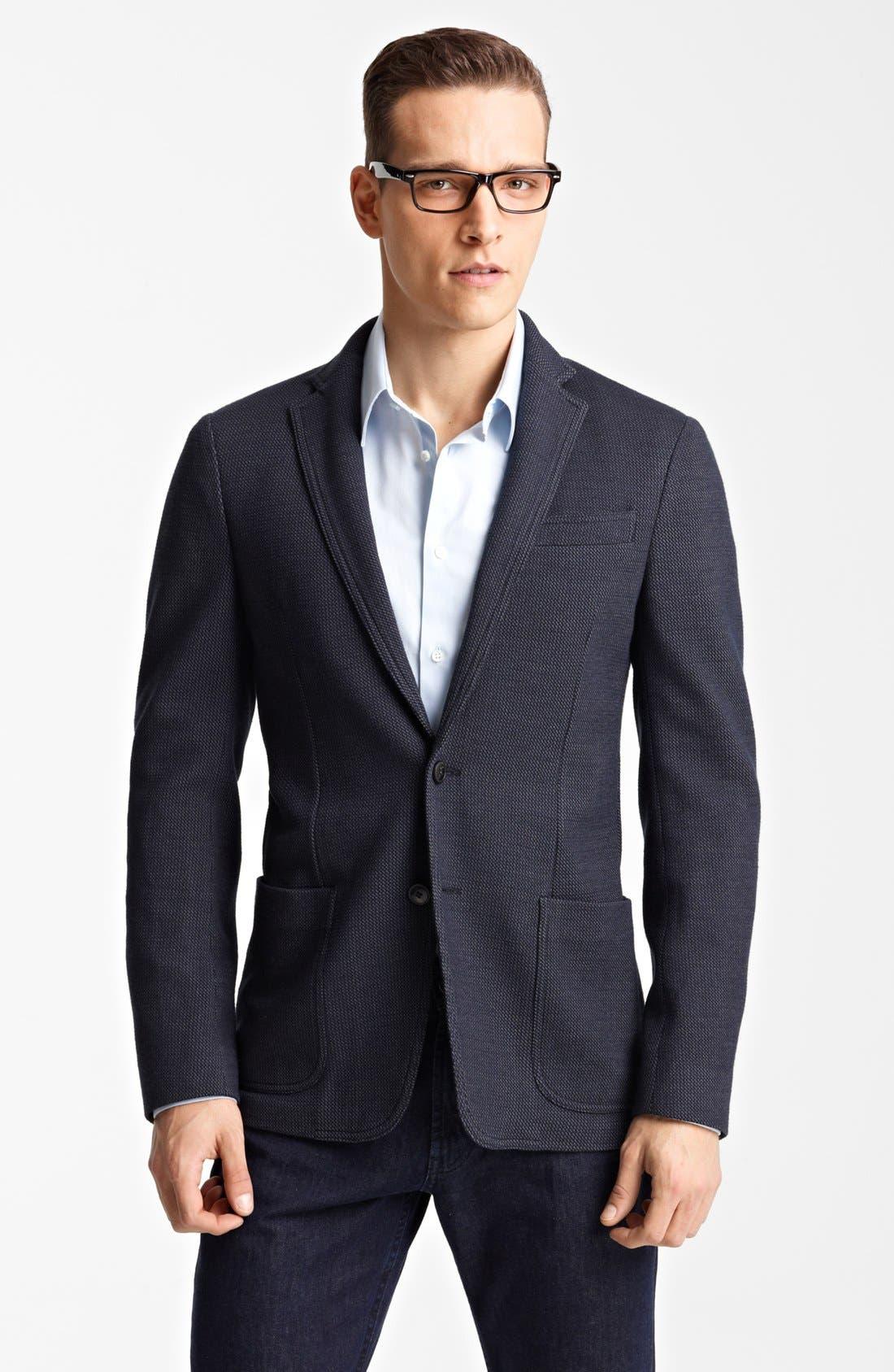 Alternate Image 1 Selected - Armani Collezioni 'Linea' Tic Weave Sportcoat