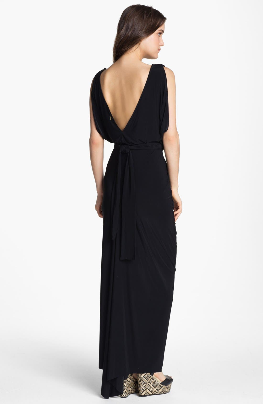 Alternate Image 2  - Tbags Los Angeles Front Knot Maxi Dress