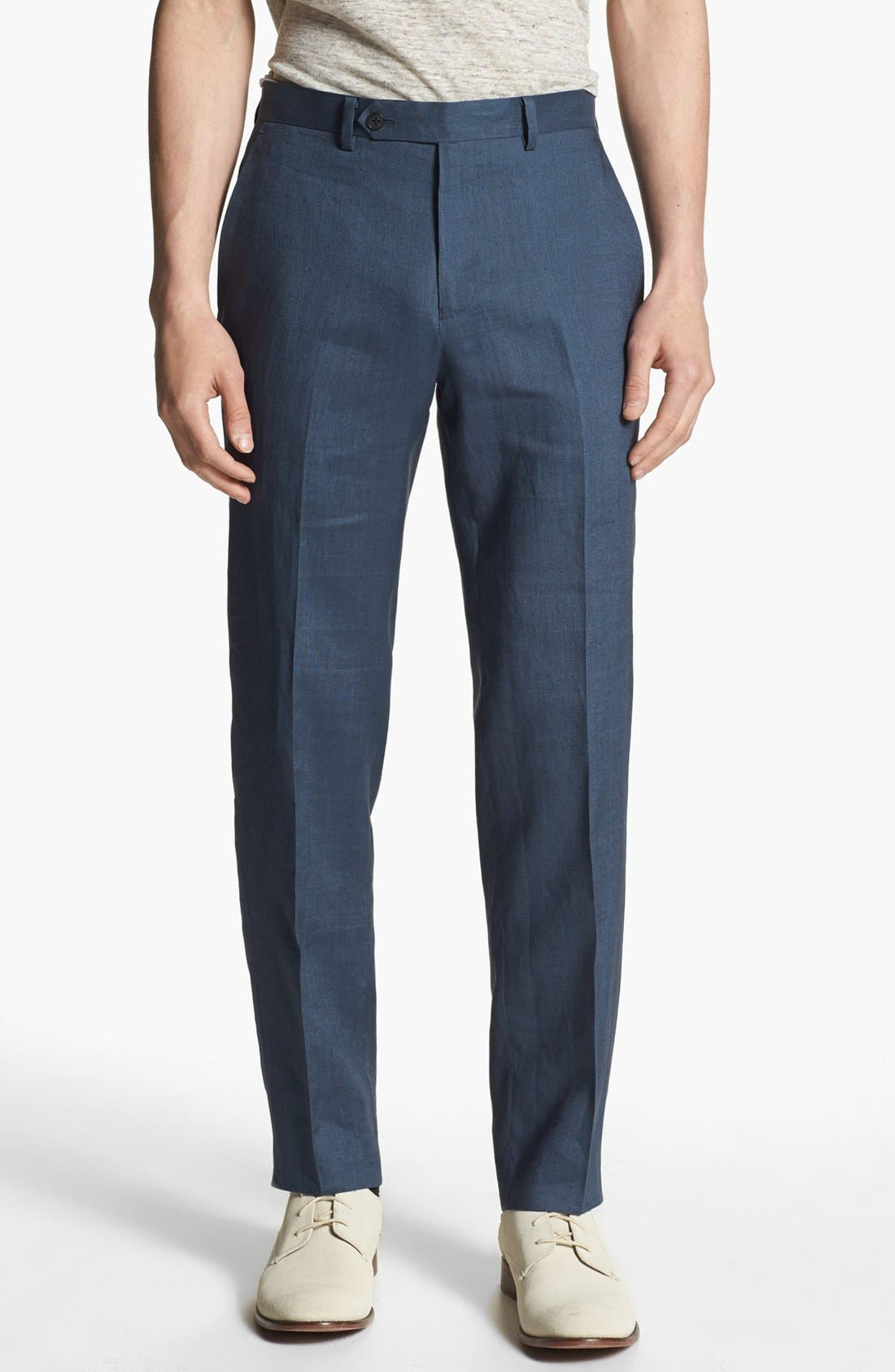 Alternate Image 1 Selected - John Varvatos Star USA Red Label 'Petro' Linen Trousers