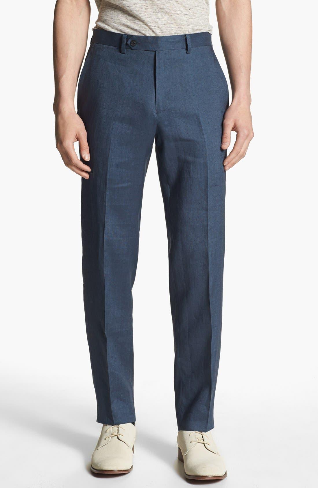 Main Image - John Varvatos Star USA Red Label 'Petro' Linen Trousers