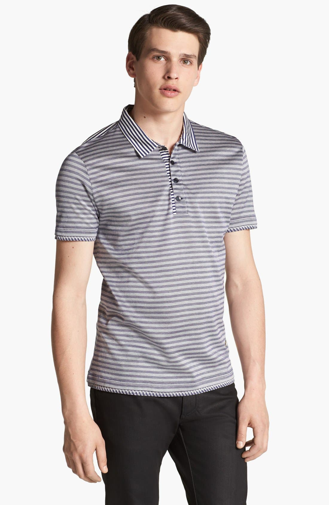 Alternate Image 1 Selected - Versace Stripe Polo