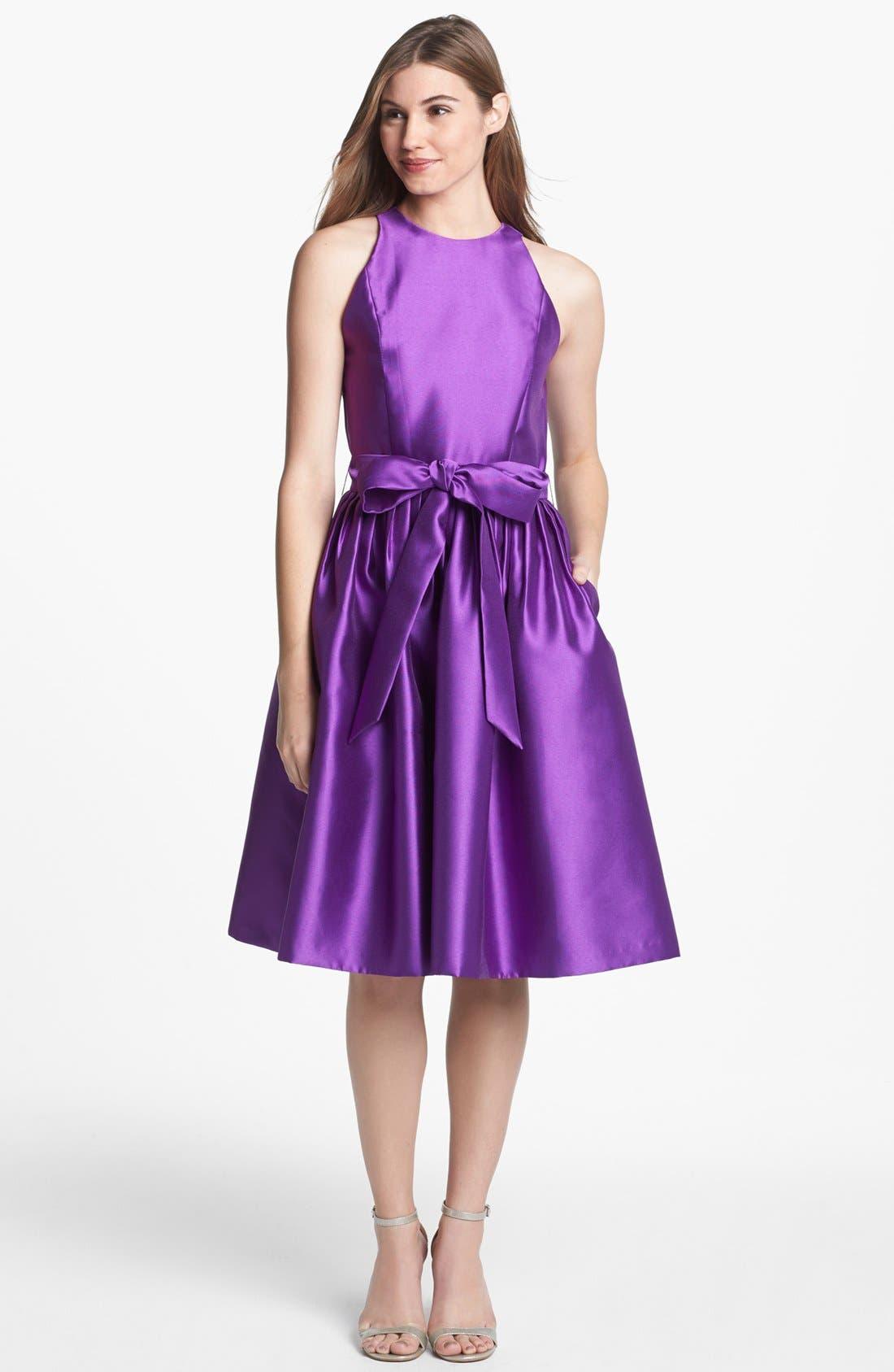 Main Image - Isaac Mizrahi New York Mikado Fit & Flare Dress