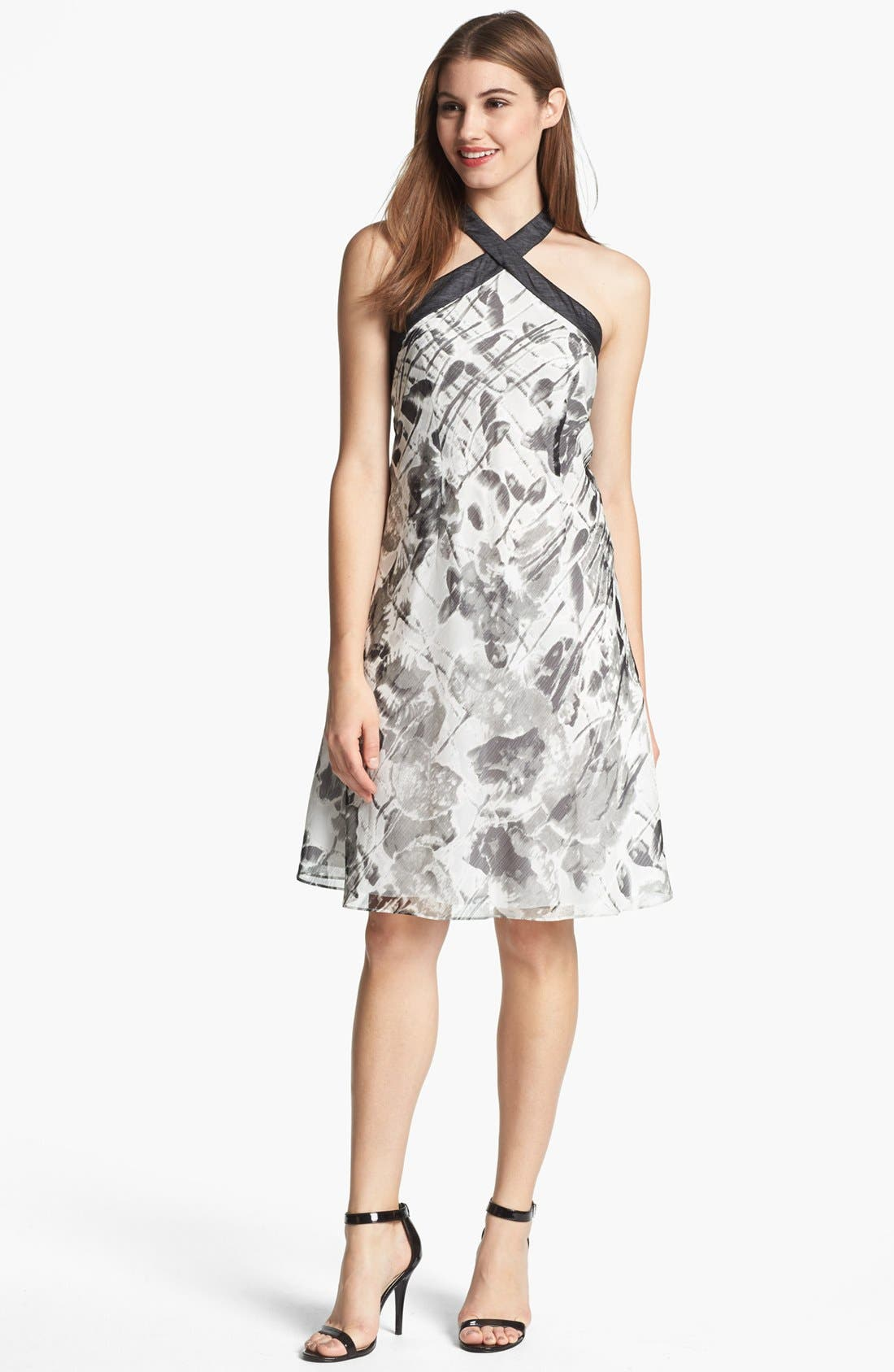 Alternate Image 1 Selected - Marc New York by Andrew Marc A-Line Chiffon Dress