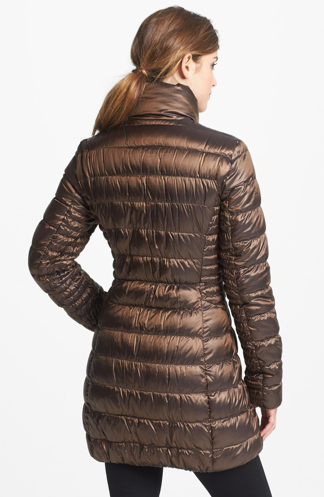 Alternate Image 2  - Laundry by Shelli Segal Reversible Packable Down Coat (Online Only)