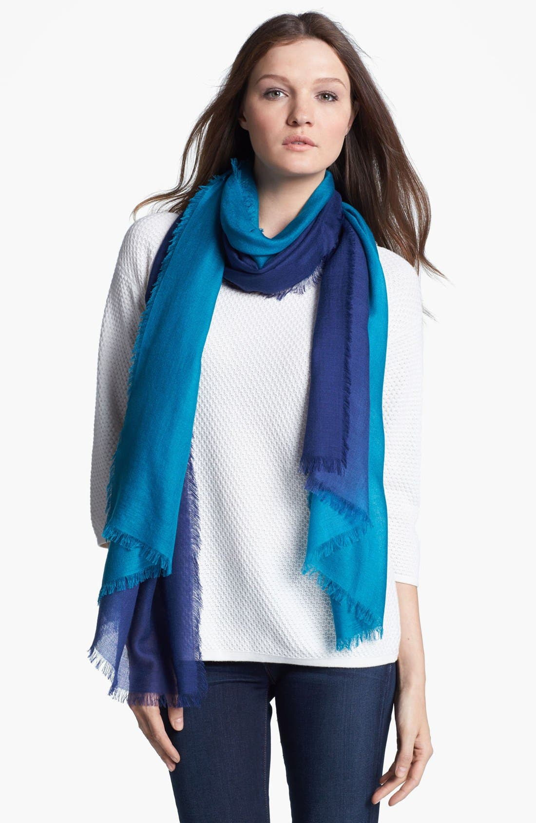 Alternate Image 1 Selected - Nordstrom Ombré Eyelash Cashmere & Silk Wrap