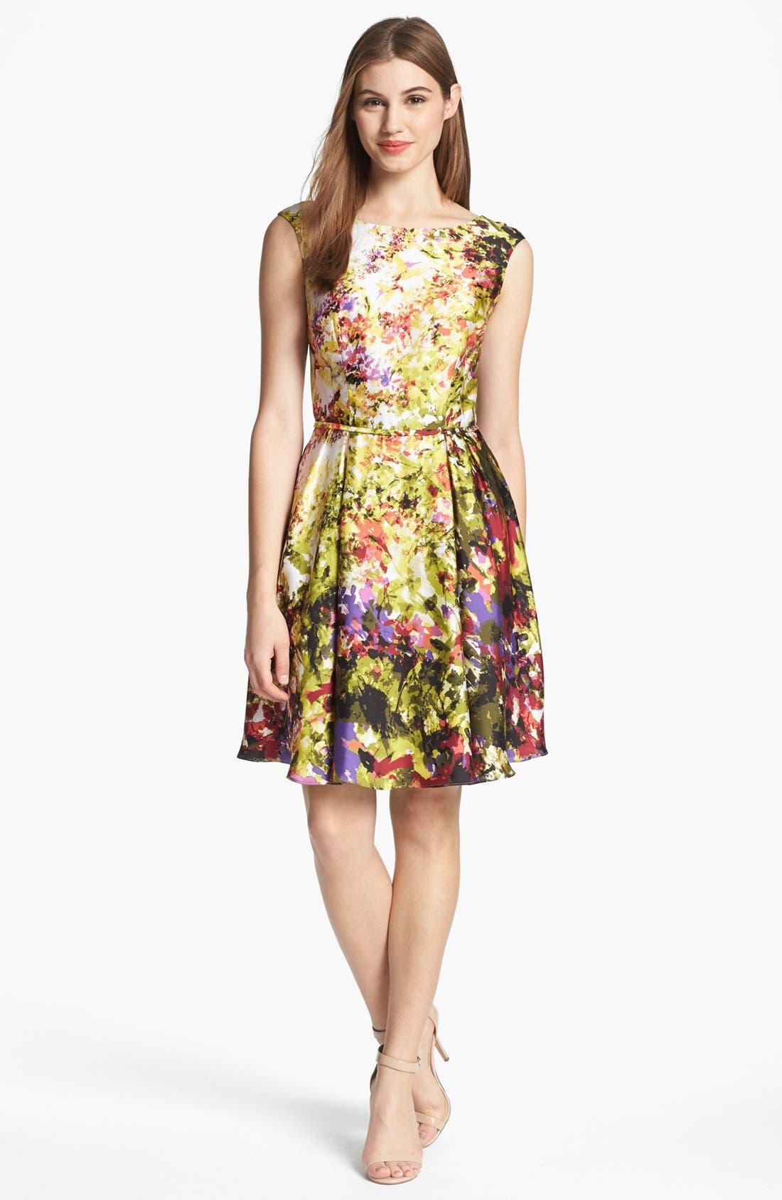 Main Image - Donna Ricco Print Fit & Flare Dress
