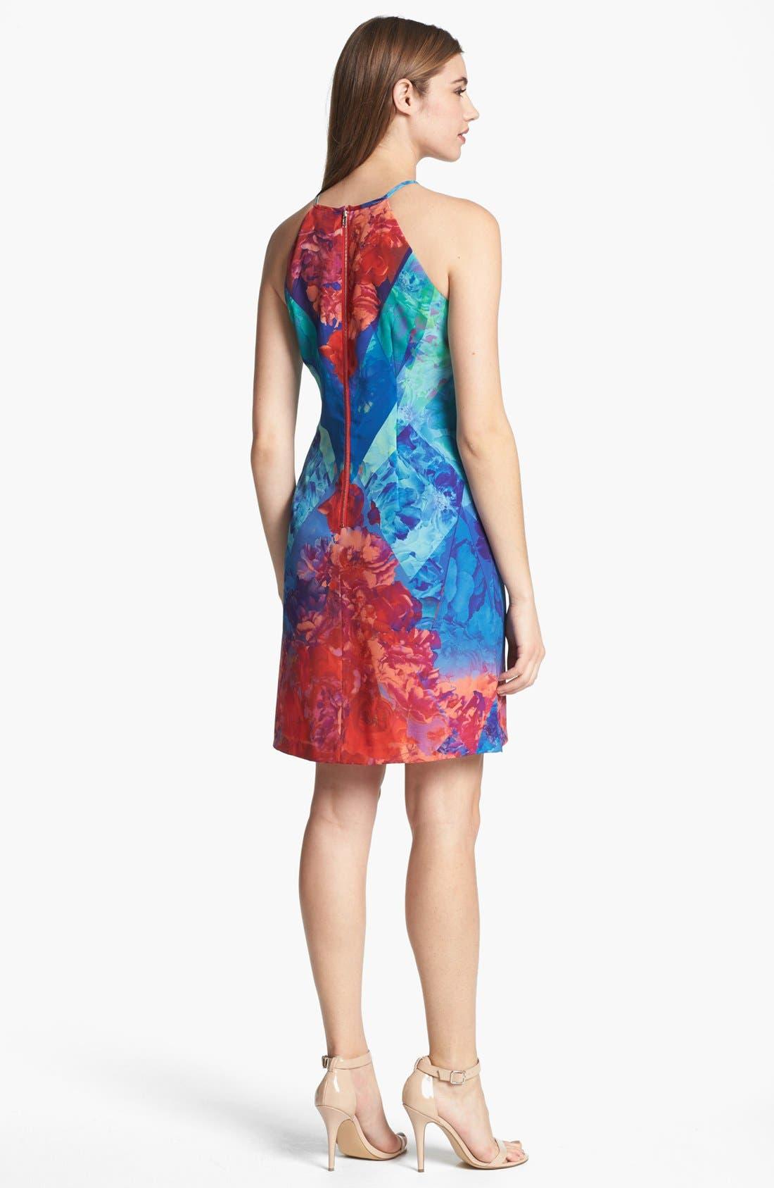 Alternate Image 2  - Ivy & Blu Print A-Line Dress