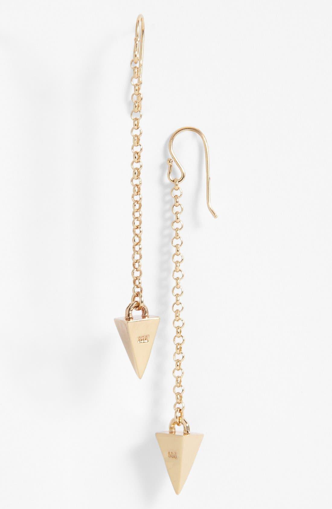Alternate Image 1 Selected - Melinda Maria 'Pyramid' Linear Earrings