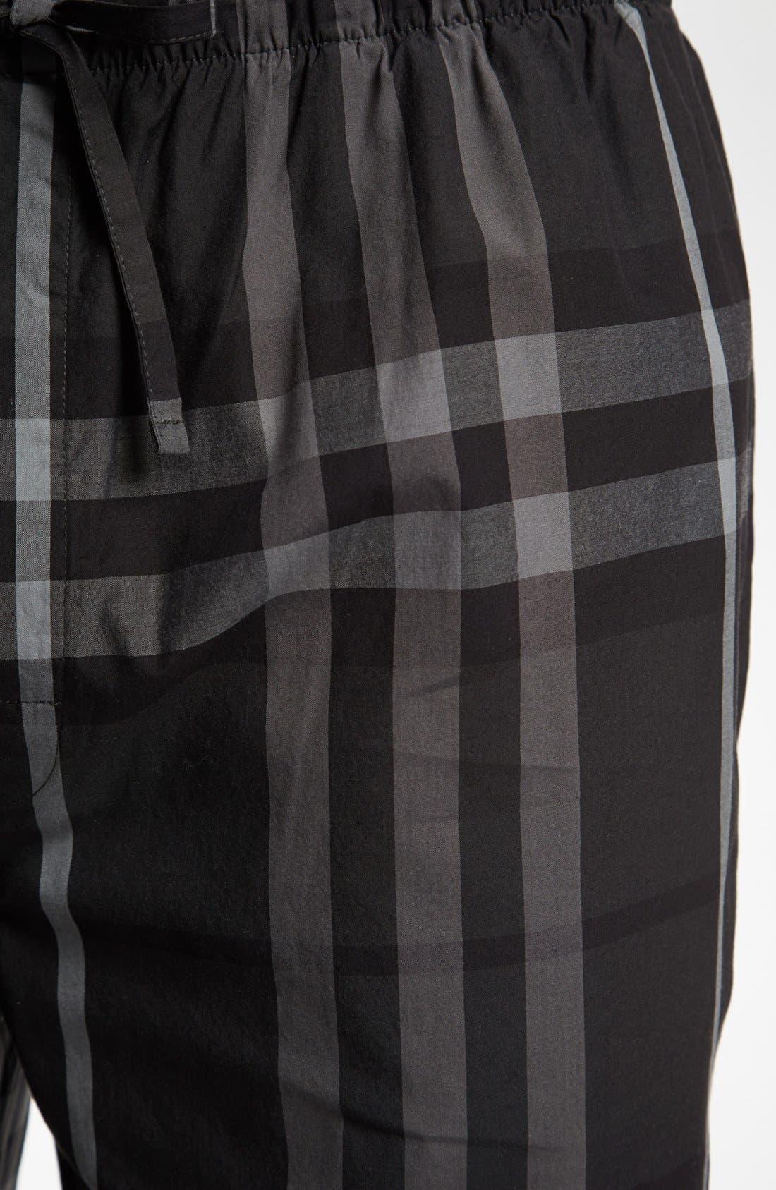 Alternate Image 3  - Burberry Check Cotton Pajama Pants