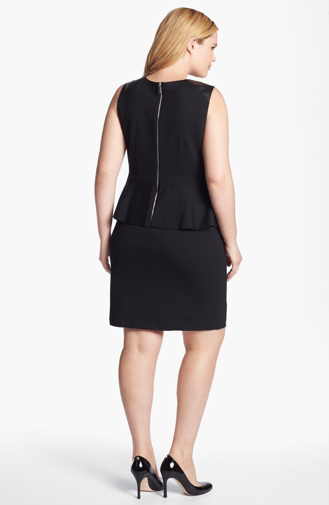 Alternate Image 2  - Vince Camuto Sleeveless Peplum Sheath Dress (Plus Size) (Online Only)