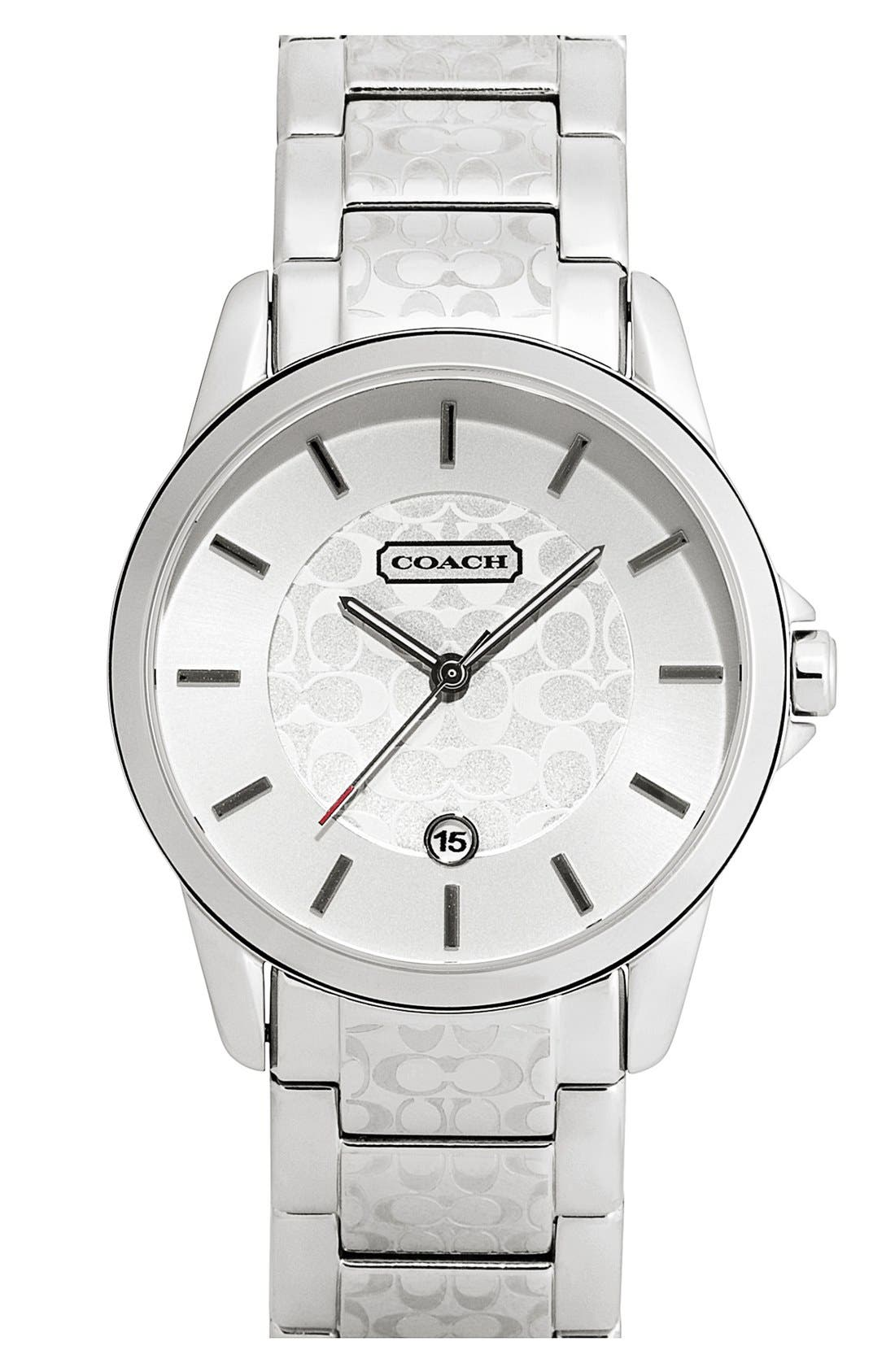Alternate Image 1 Selected - COACH 'Classic Signature' Bracelet Watch