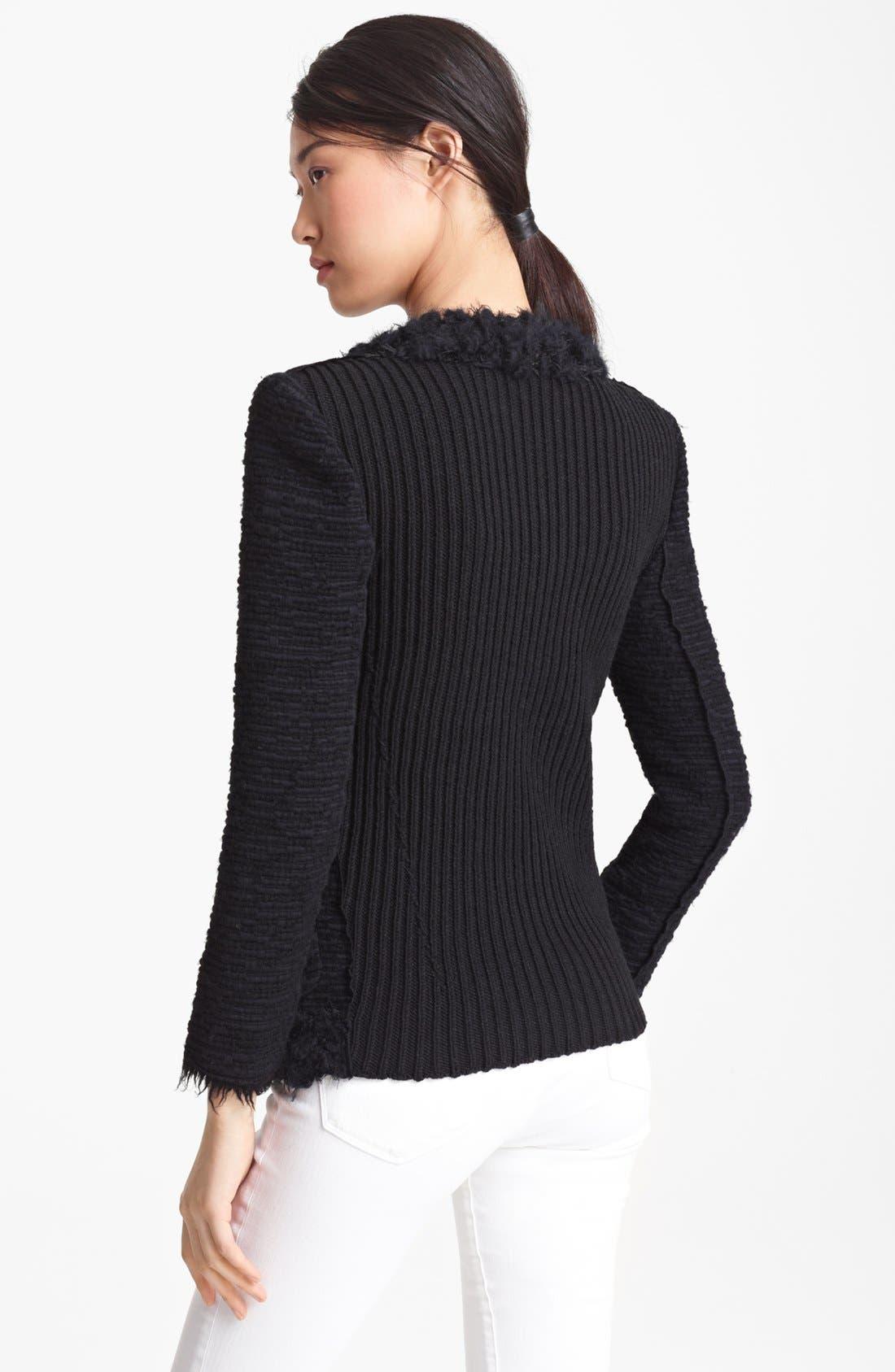Alternate Image 2  - Nina Ricci Tweed Sweater Jacket
