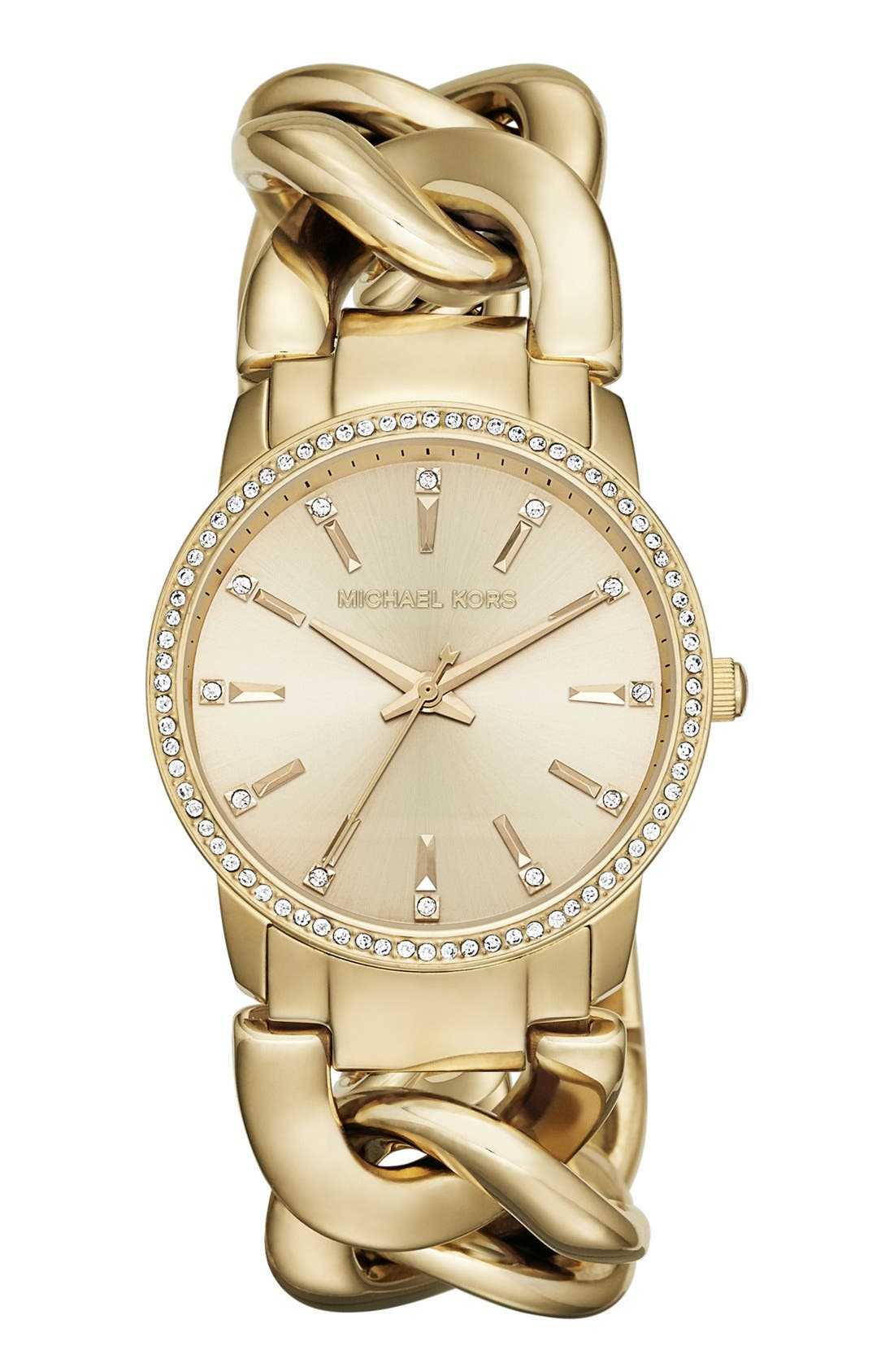 Alternate Image 1 Selected - Michael Kors 'Lady Nini' Chain Link Bracelet Watch, 35mm