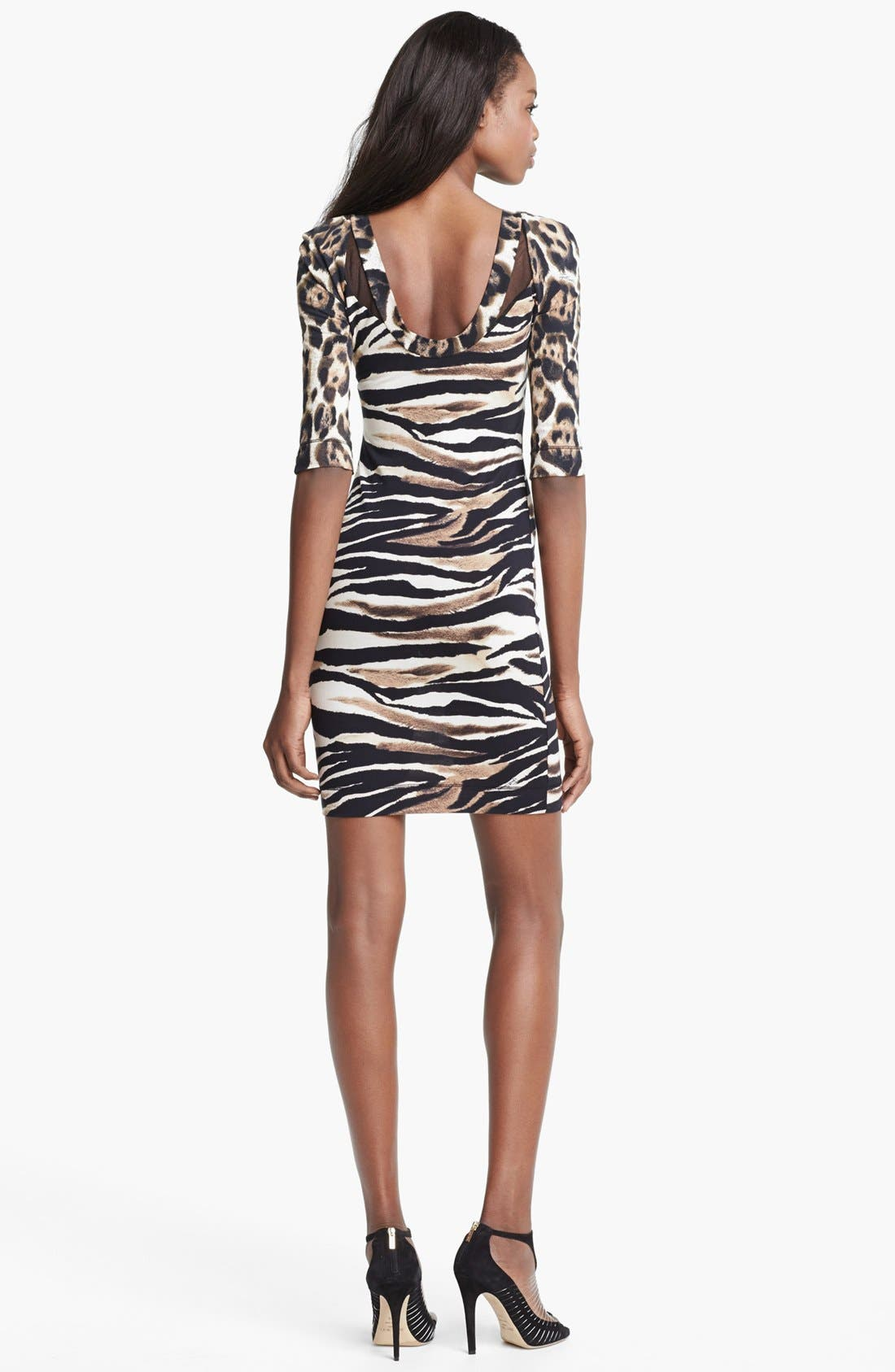 Alternate Image 2  - Just Cavalli Leopard & Zebra Print Jersey Dress