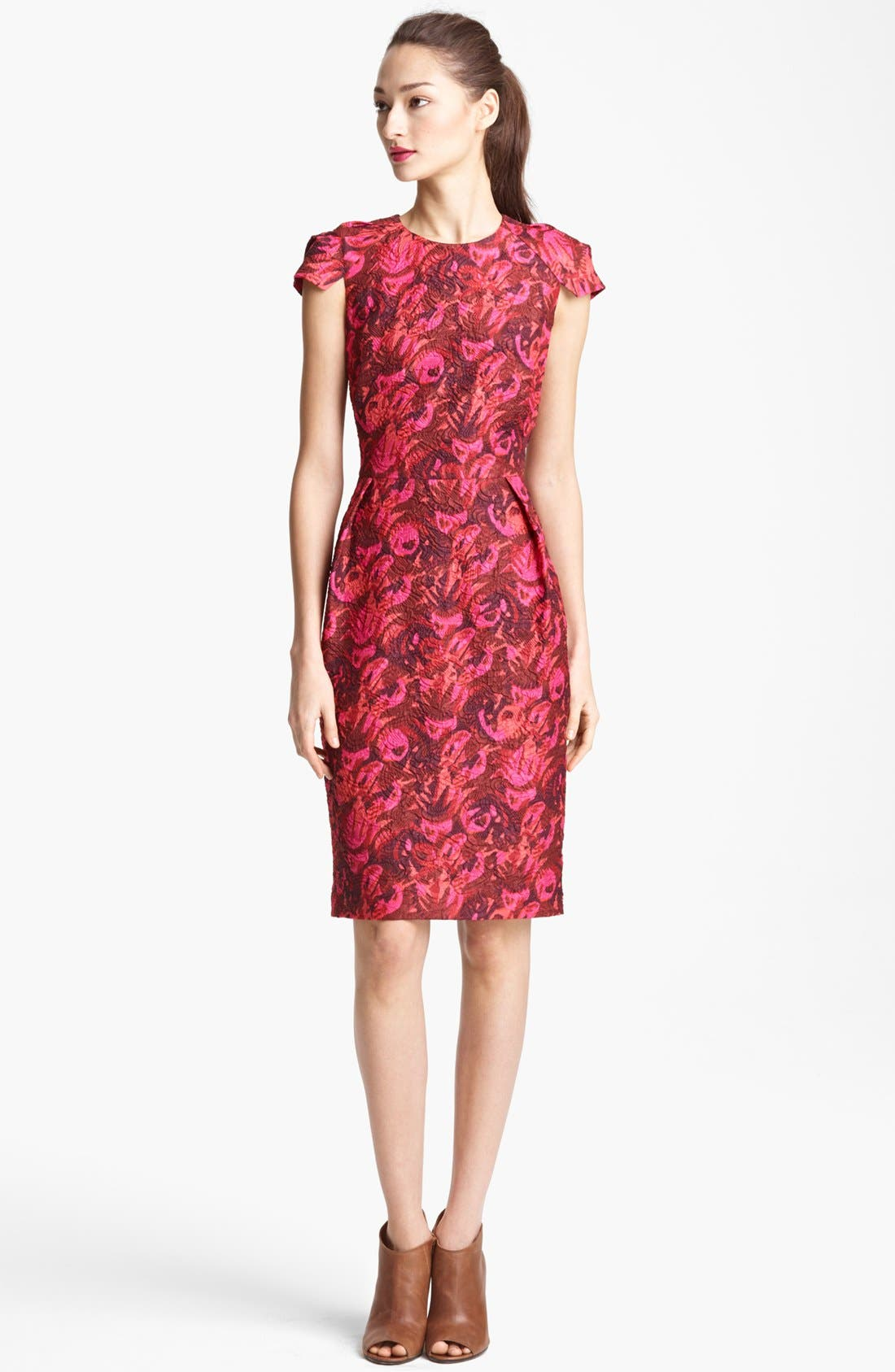 Main Image - Lida Baday Print Cloqué Dress