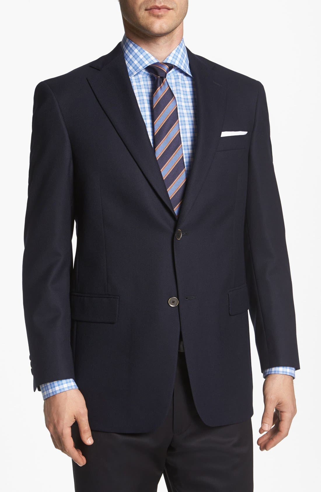 Alternate Image 1 Selected - Hart Schaffner Marx Navy Wool Blazer