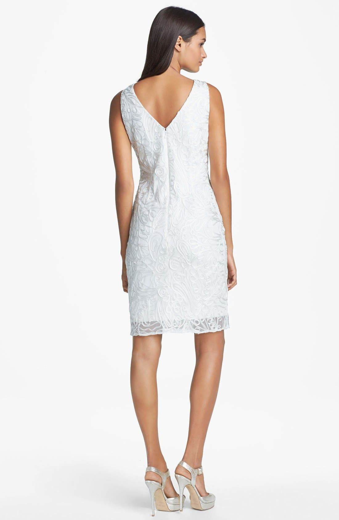 Alternate Image 2  - Hailey by Adrianna Papell Embroidered Sheath Dress (Online Only)