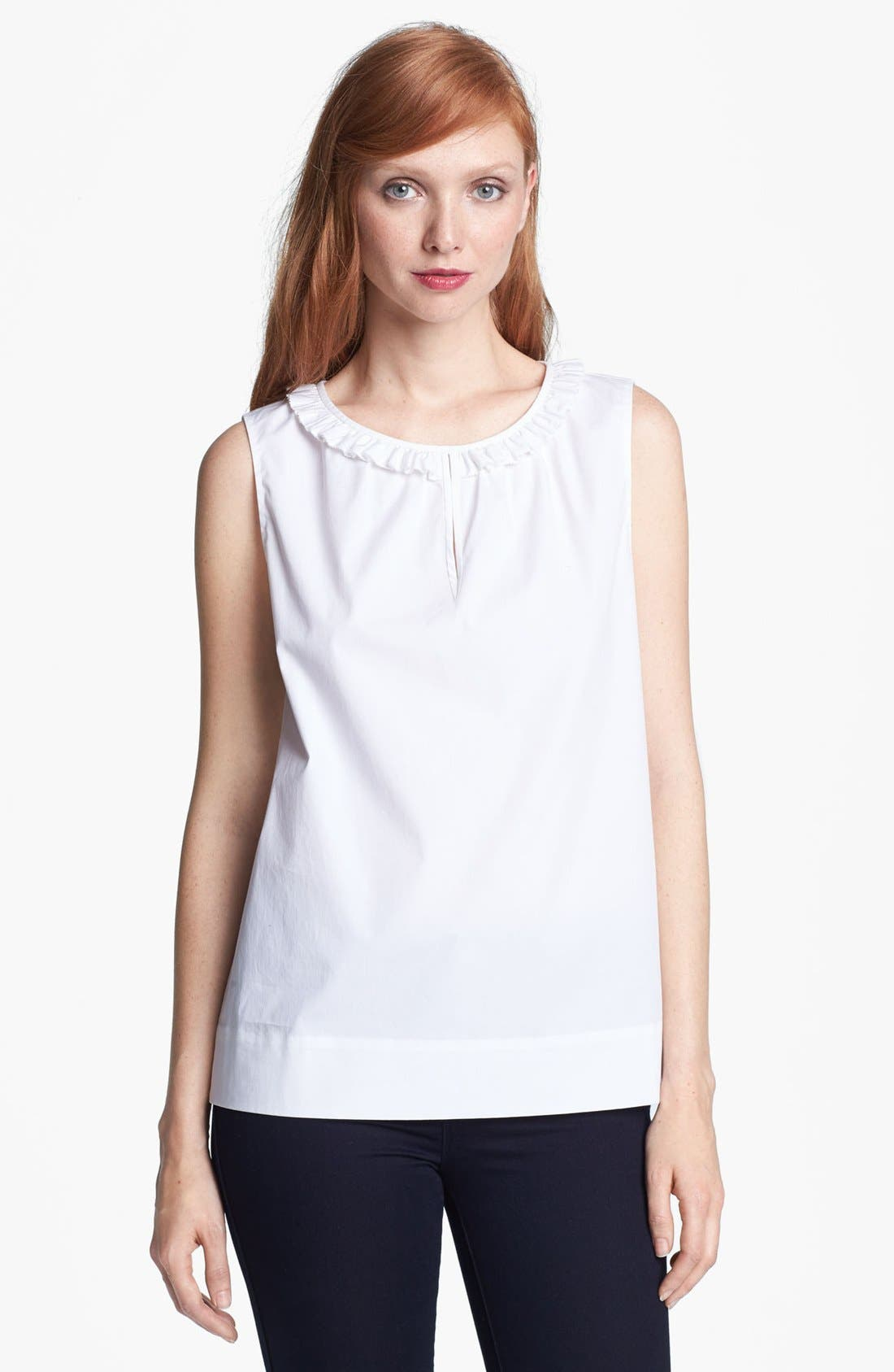 Alternate Image 1 Selected - kate spade new york 'estella' stretch cotton top