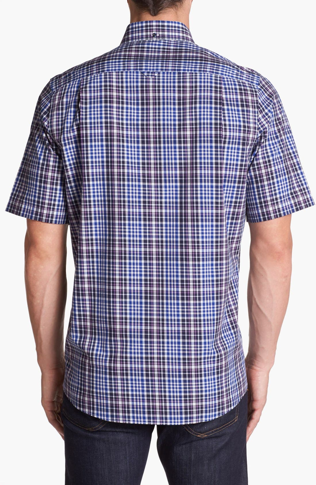 Alternate Image 2  - Nordstrom Smartcare™ Regular Fit Poplin Sport Shirt