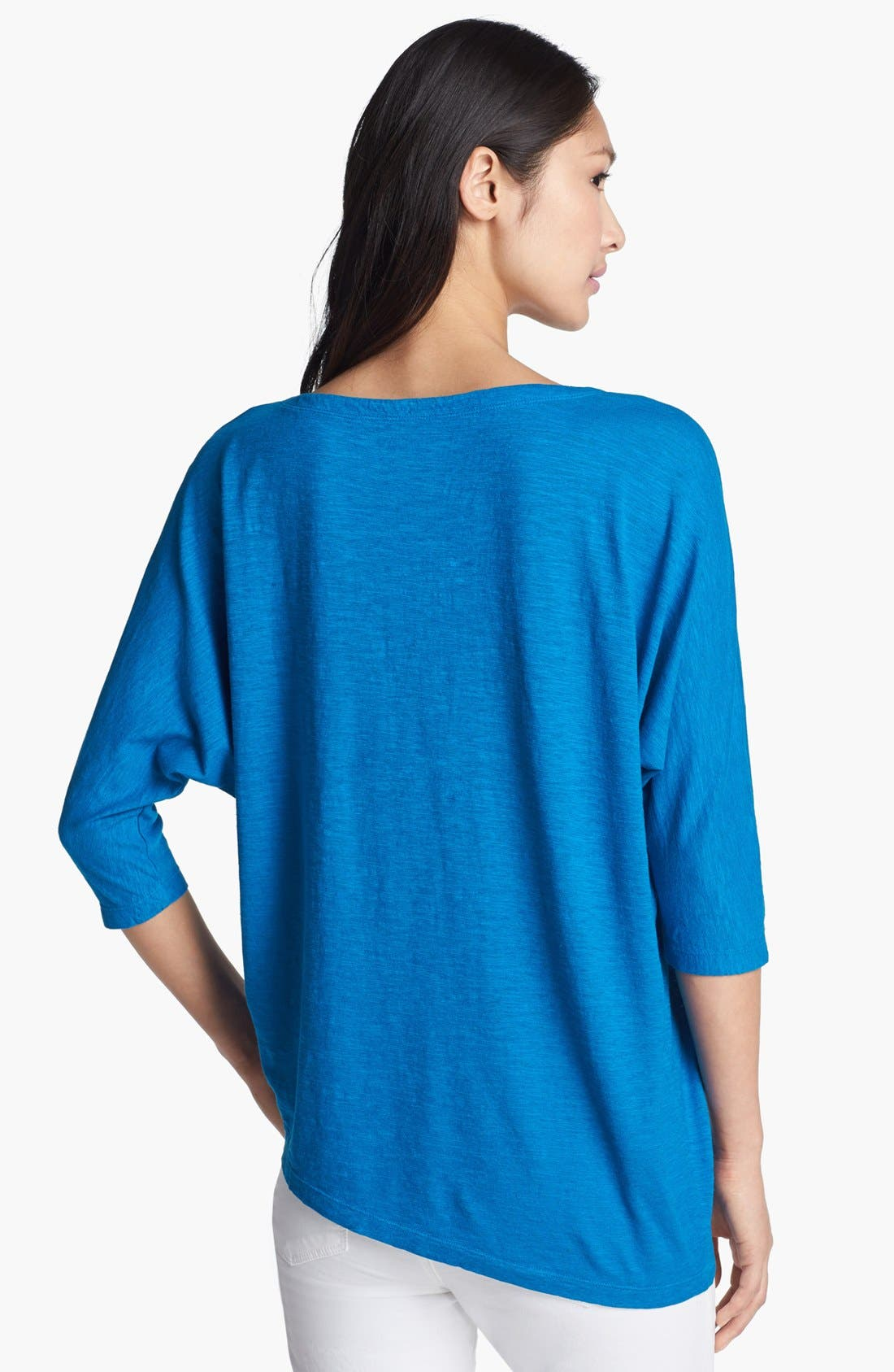 Alternate Image 2  - Eileen Fisher Asymmetrical Hemp & Organic Cotton Top (Regular & Petite)